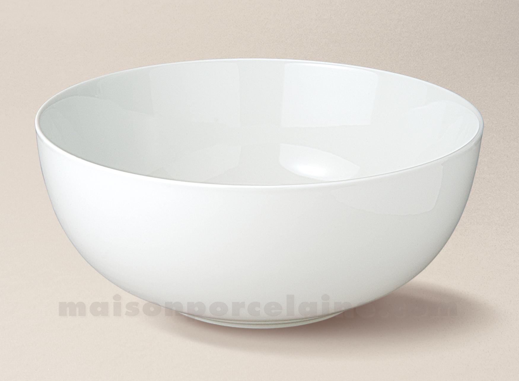 saladier porcelaine blanche boule flandre n 2 25x10 5 maison de la porcelaine. Black Bedroom Furniture Sets. Home Design Ideas