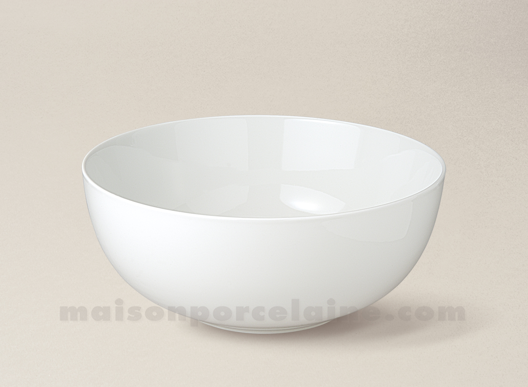 Saladier porcelaine blanche boule flandre n 6 17x6 5 - Saladier porcelaine blanche ...