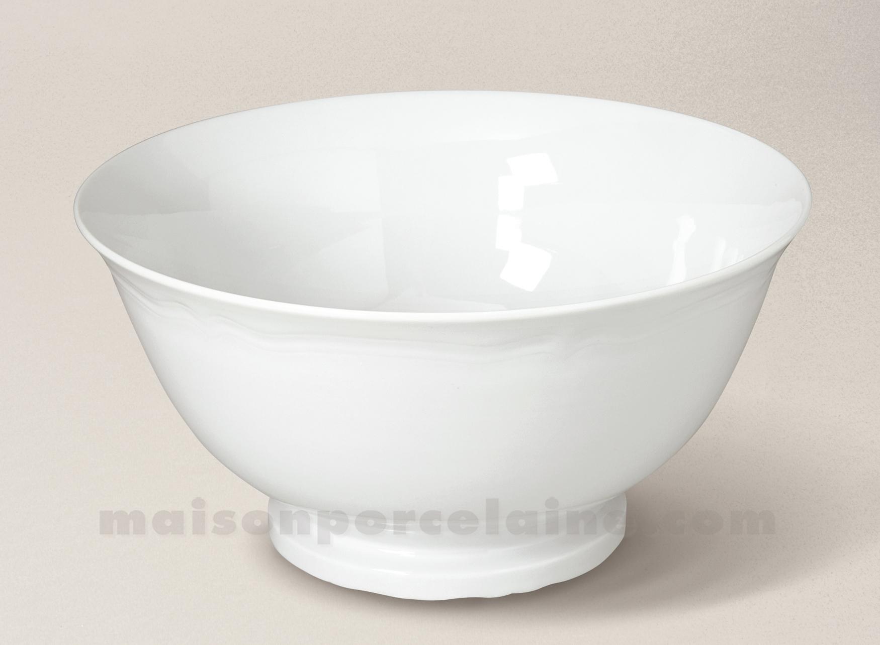 saladier porcelaine blanche clara 23x22 5 maison de la porcelaine. Black Bedroom Furniture Sets. Home Design Ideas