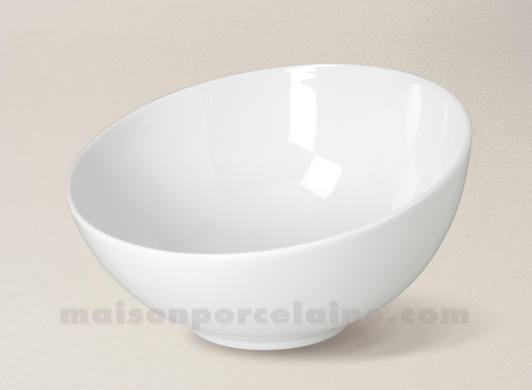 saladier porcelaine blanche coupe d21 maison de la porcelaine. Black Bedroom Furniture Sets. Home Design Ideas