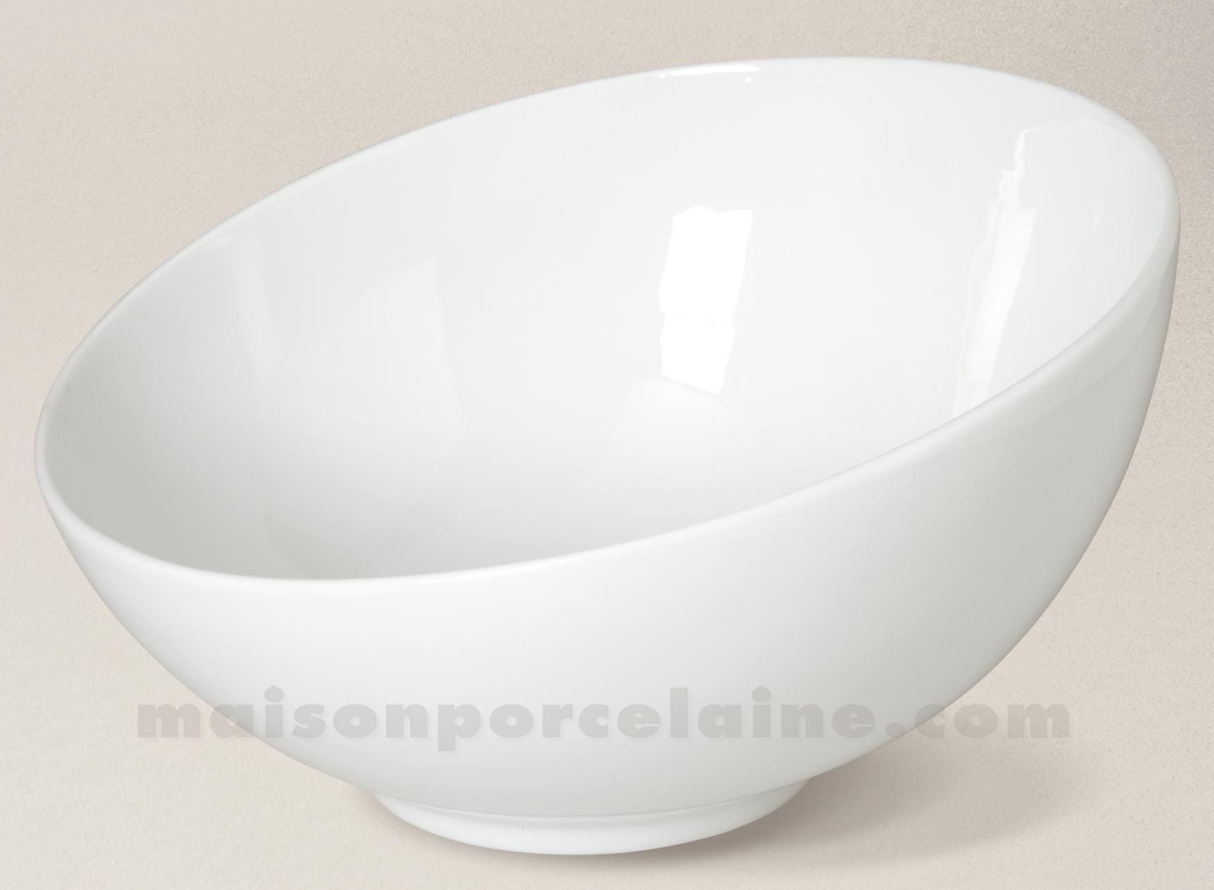 Saladier porcelaine blanche coupe d27 maison de la - Saladier porcelaine blanche ...