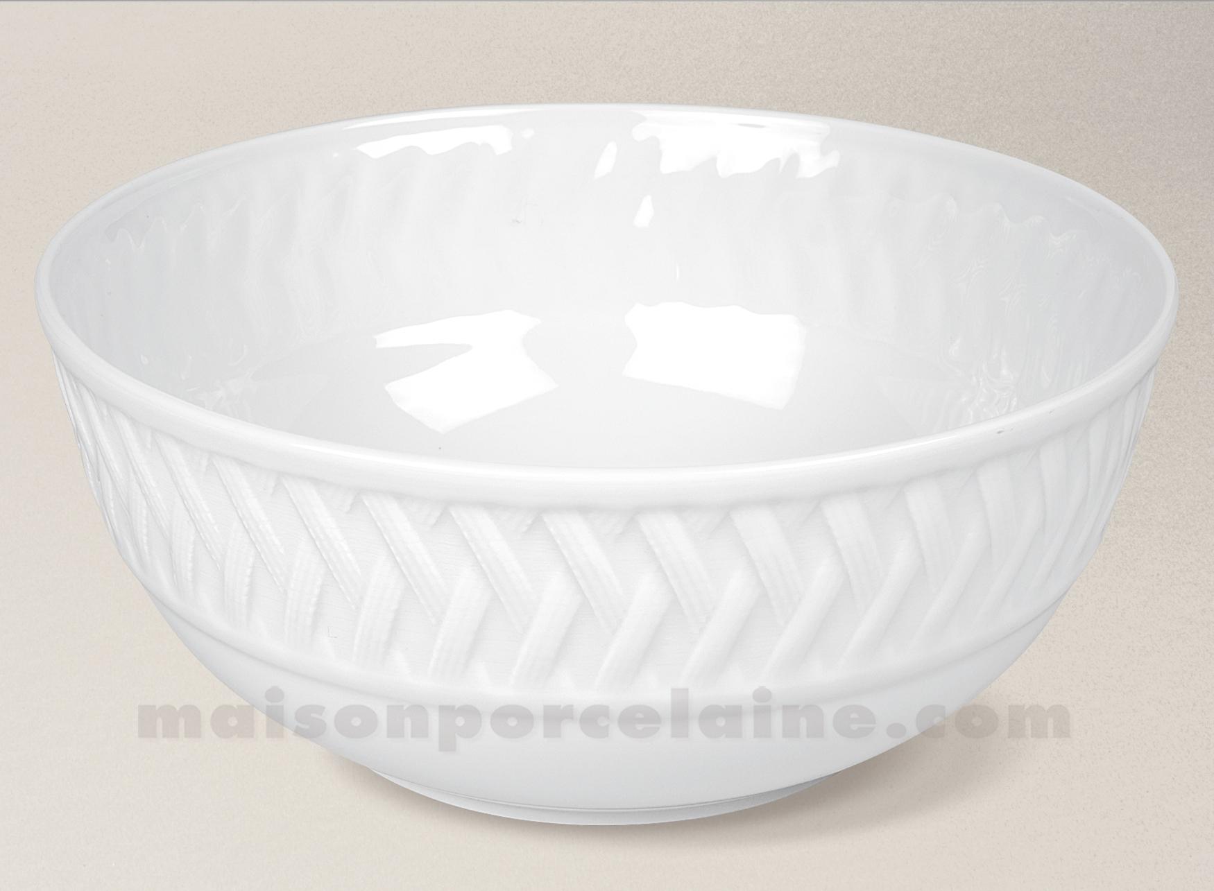 saladier porcelaine blanche louisiane geant d25 maison de la porcelaine. Black Bedroom Furniture Sets. Home Design Ideas