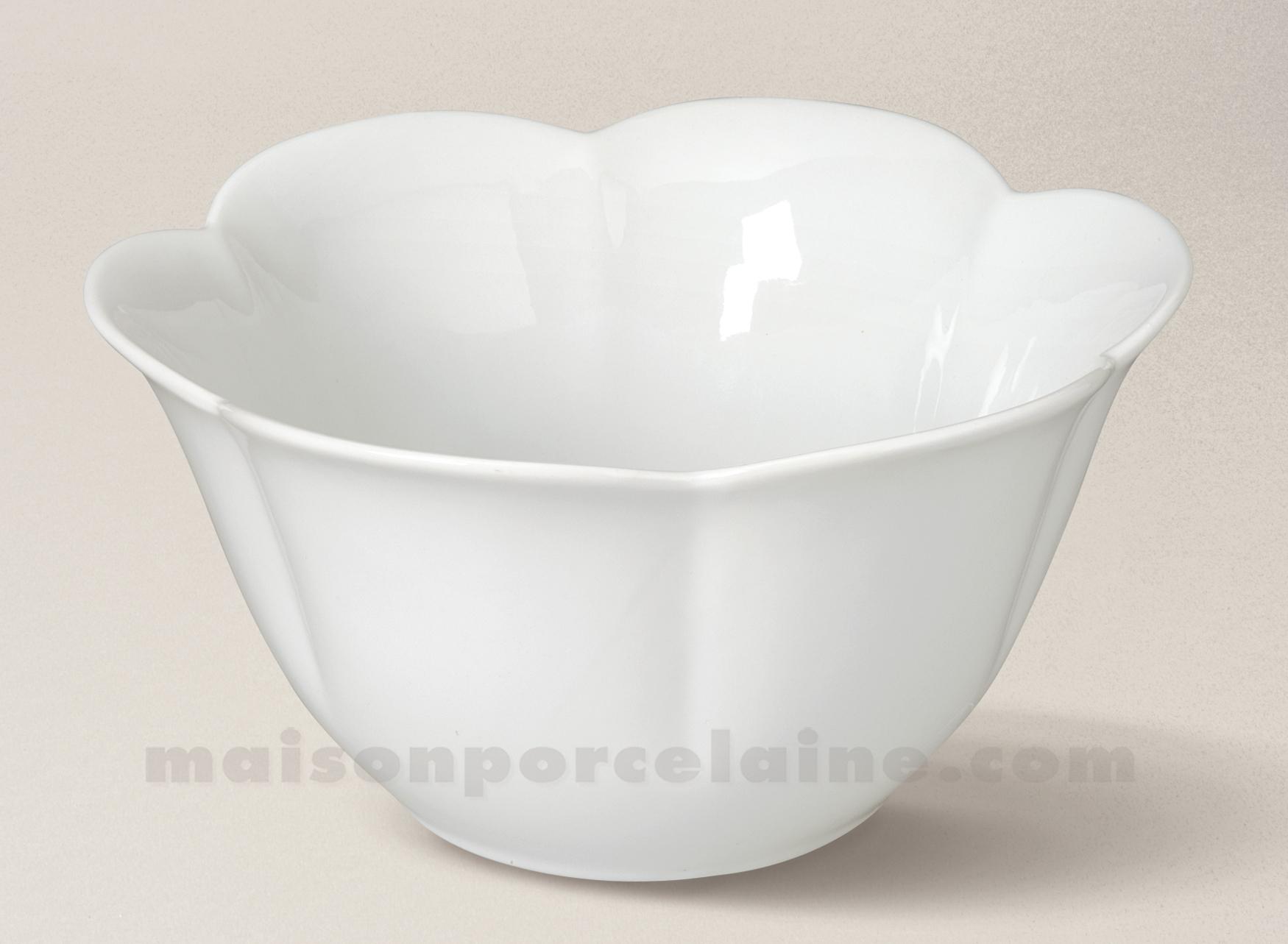 saladier porcelaine blanche maya 23x21 6 maison de la porcelaine. Black Bedroom Furniture Sets. Home Design Ideas