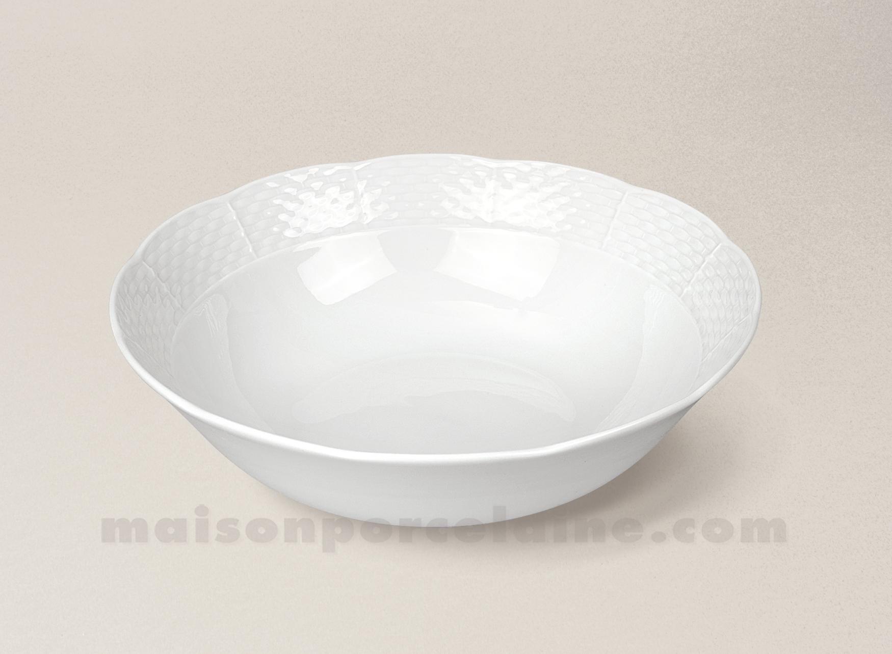 Saladier porcelaine blanche natacha pm d21 maison de la for Maison de la porcelaine