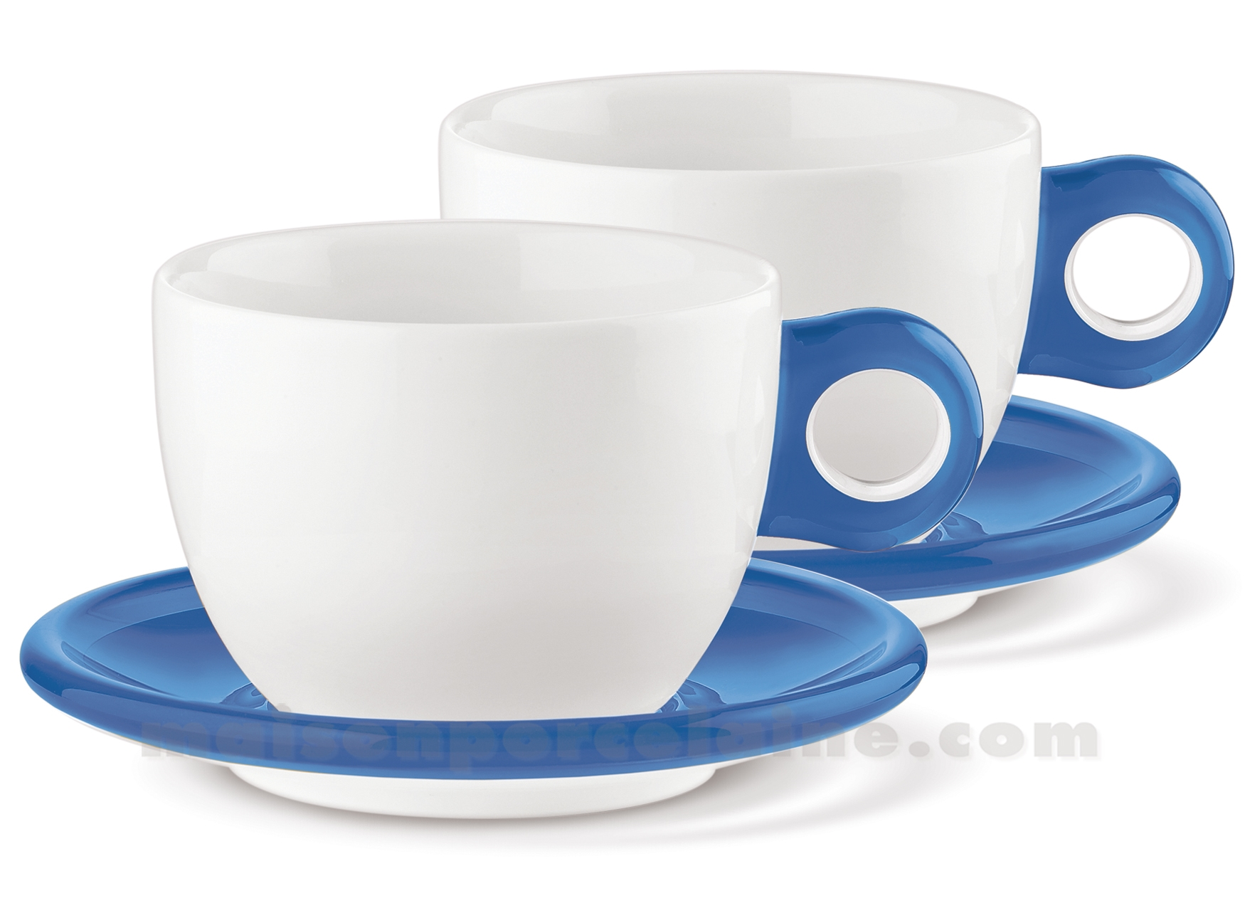 set 2 tasses petit dejeuner avec sous tasse 35cl maison de la porcelaine. Black Bedroom Furniture Sets. Home Design Ideas