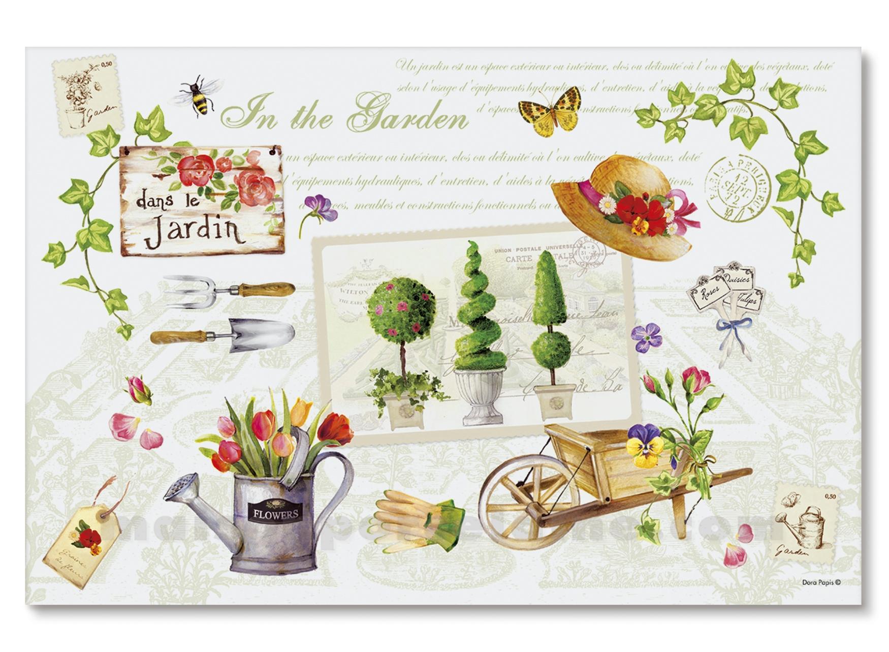 Set table souple jardin 45x30 maison de la porcelaine for Set table jardin