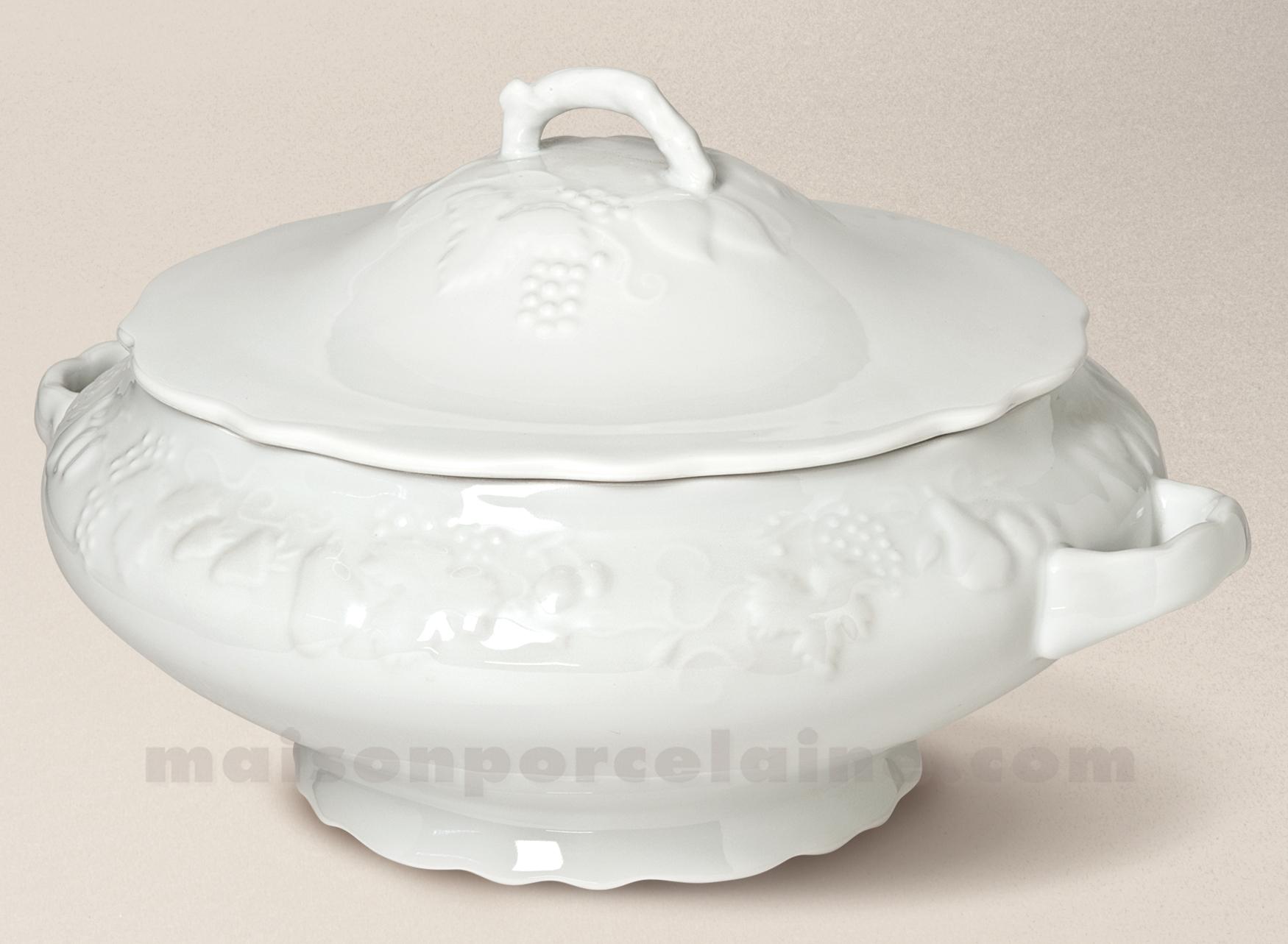 Soupiere california limoges porcelaine blanche 28x23 2l maison de la porcel - La porcelaine blanche ...