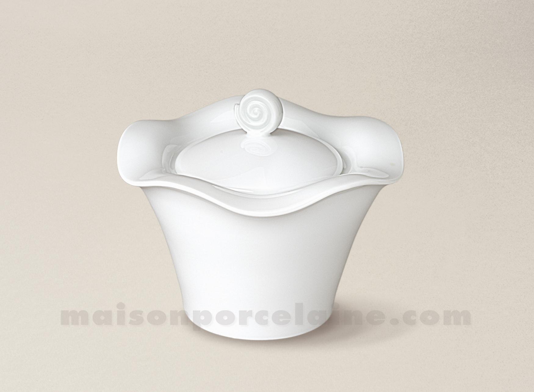 Sucrier porcelaine blanche gala 13x11 maison de la porcelaine - La porcelaine blanche ...