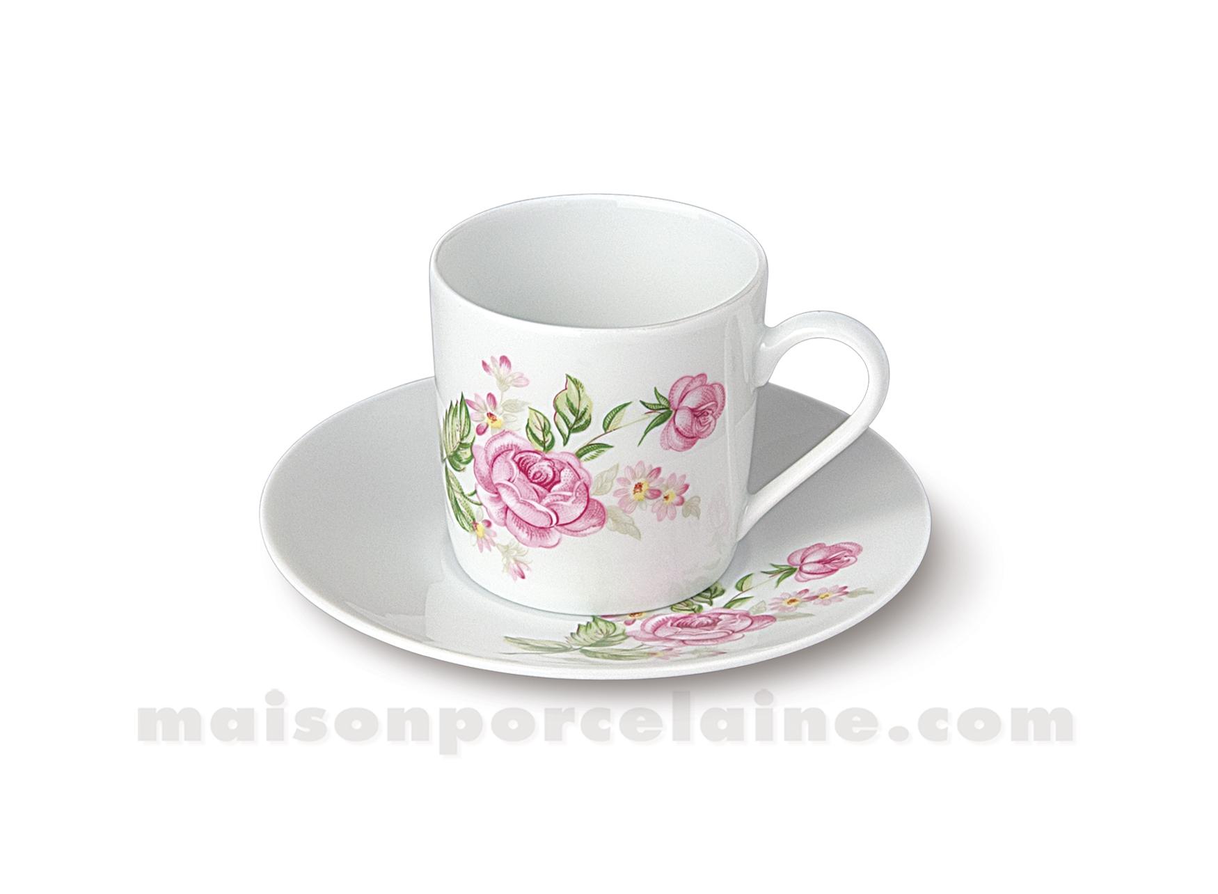 Tasse cafe soucoupe limoges empire 10cl maison de la - La maison de porcelaine ...
