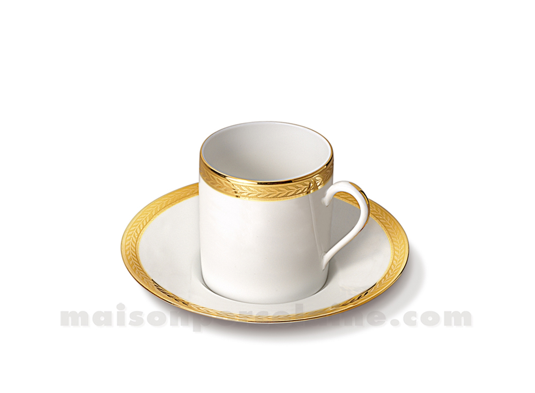 tasse cafe soucoupe limoges empire 10cl maison de la porcelaine. Black Bedroom Furniture Sets. Home Design Ideas