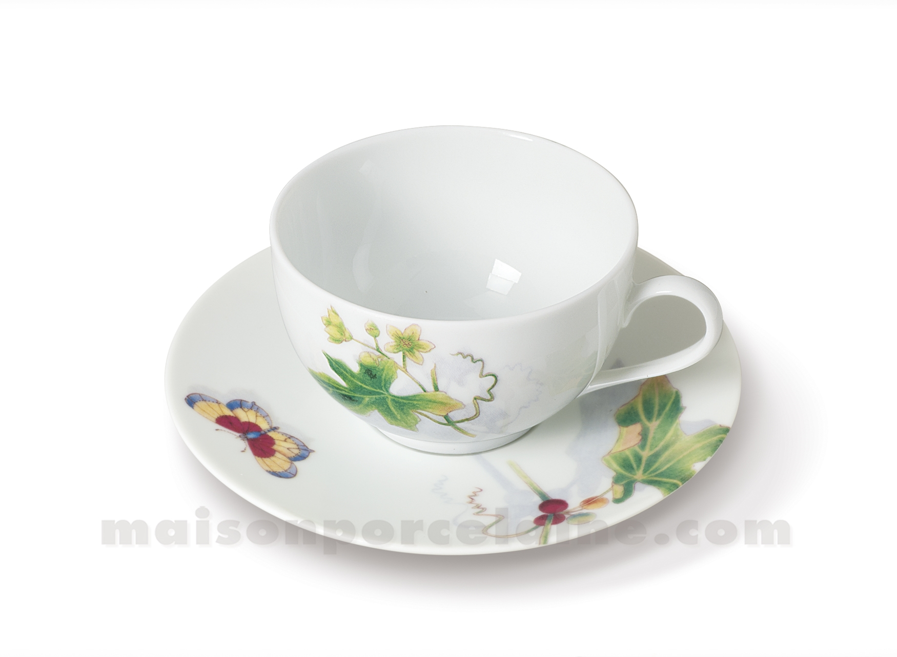 Tasse cafe soucoupe limoges envie 14cl maison de la for Maison de la porcelaine