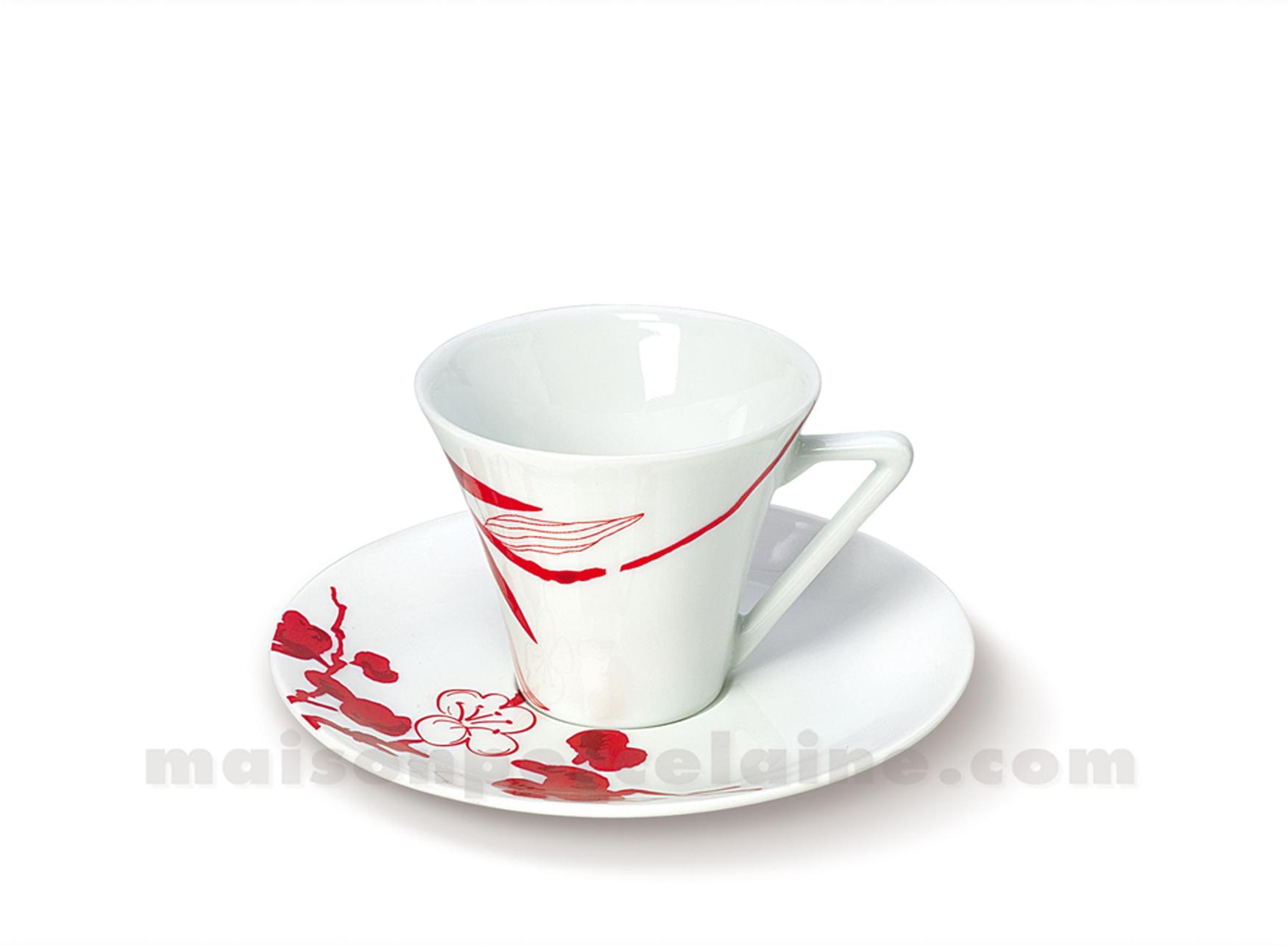 Tasse cafe soucoupe limoges haussmann 10cl maison de la - La maison de porcelaine ...
