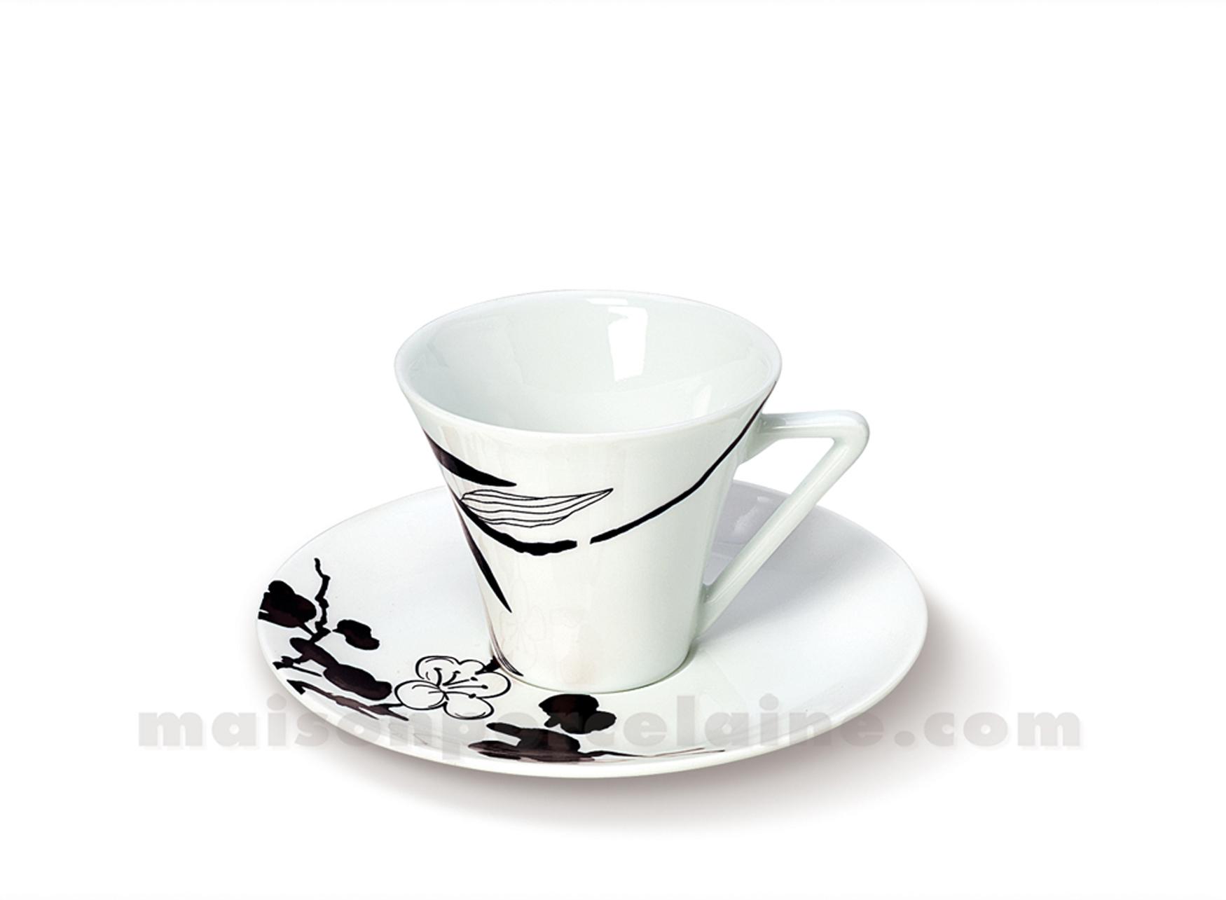 tasse cafe soucoupe limoges haussmann 10cl maison de la porcelaine. Black Bedroom Furniture Sets. Home Design Ideas