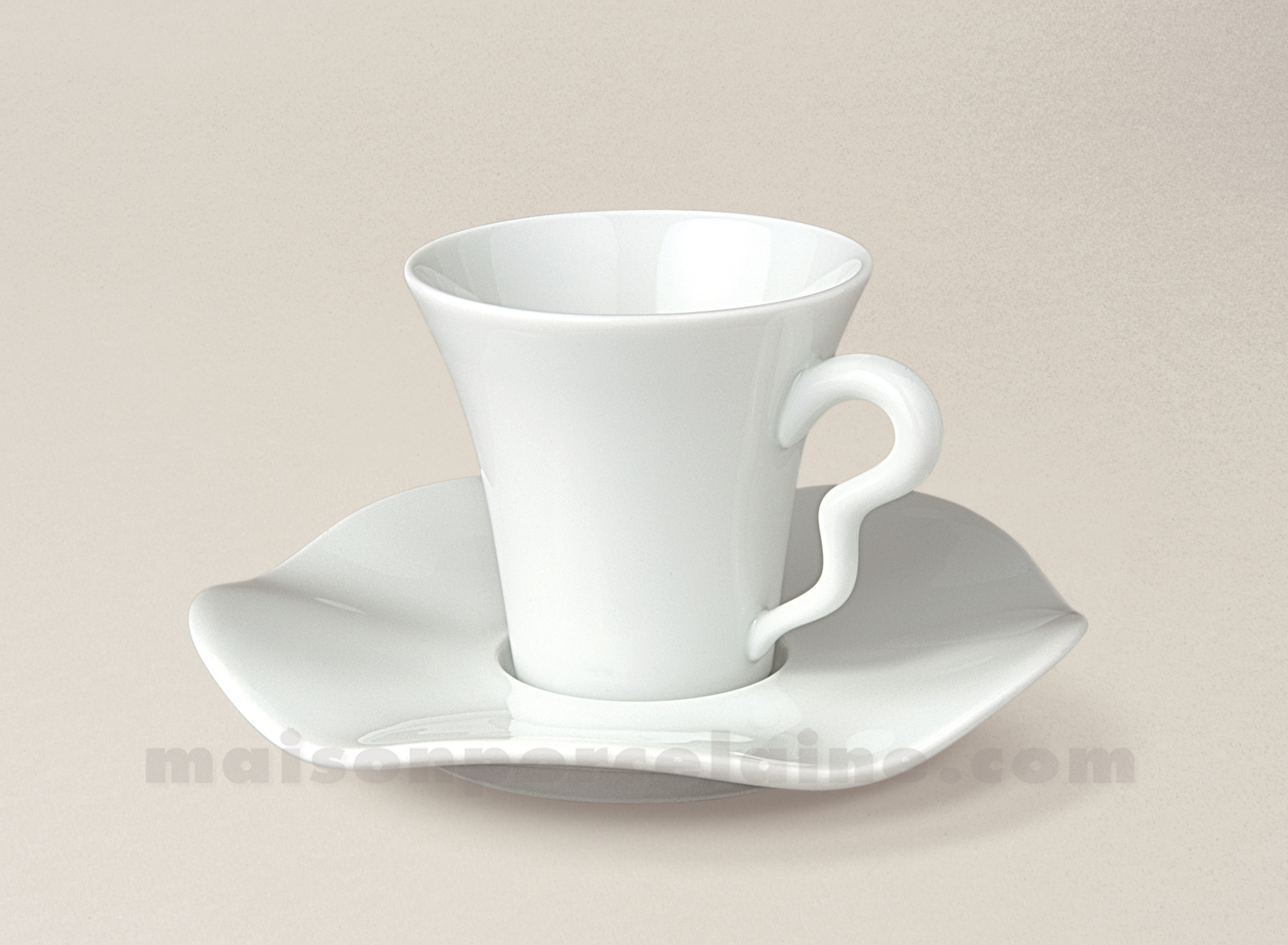 tasse cafe soucoupe limoges porcelaine blanche gala 10cl maison de la porcelaine. Black Bedroom Furniture Sets. Home Design Ideas