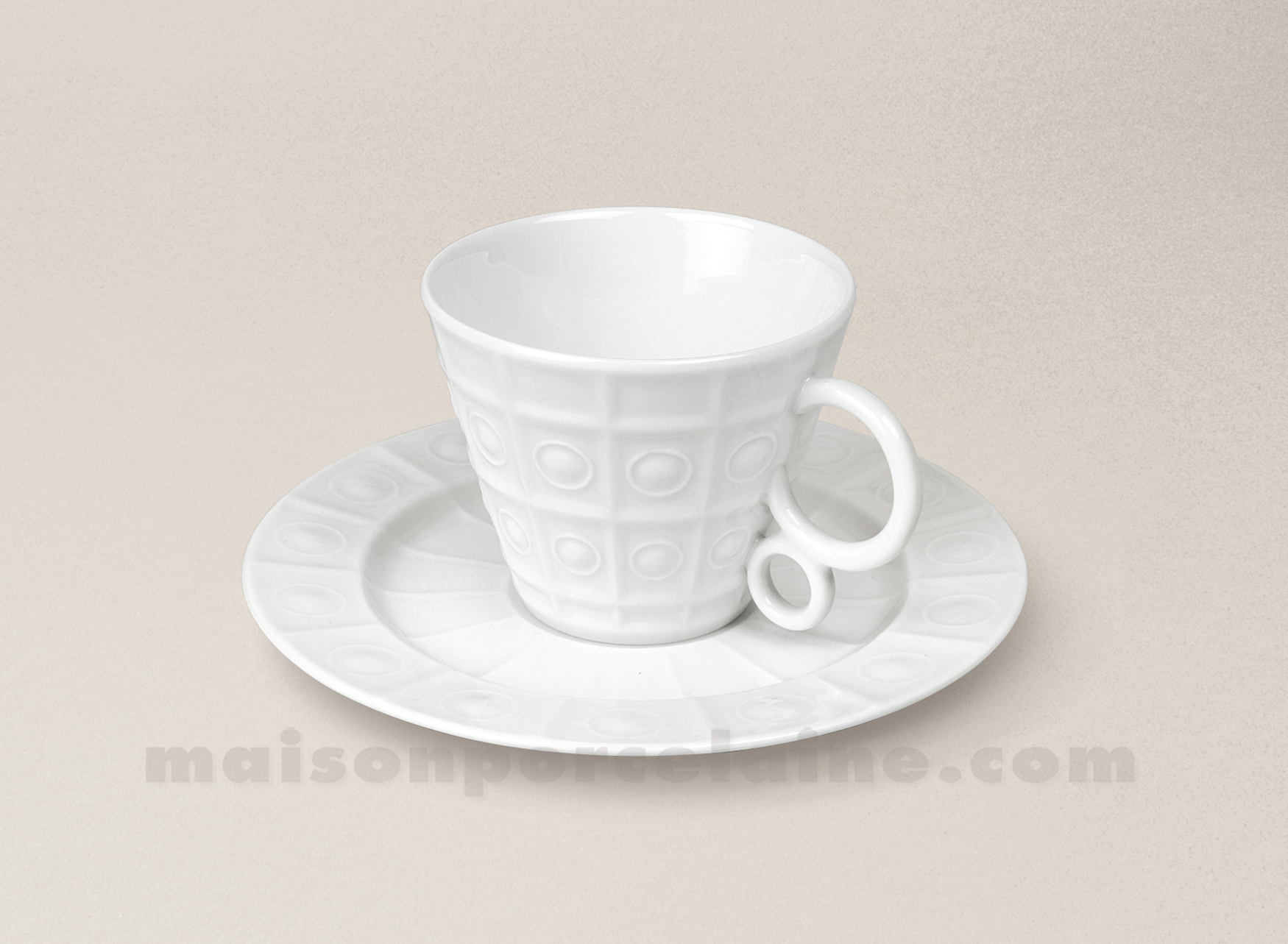 tasse cafe soucoupe limoges porcelaine blanche osmose maison de la porcelaine. Black Bedroom Furniture Sets. Home Design Ideas