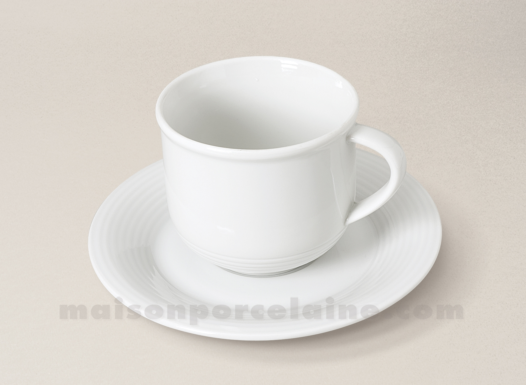 tasse cafe the soucoupe porcelaine blanche abba maison de la porcelaine. Black Bedroom Furniture Sets. Home Design Ideas