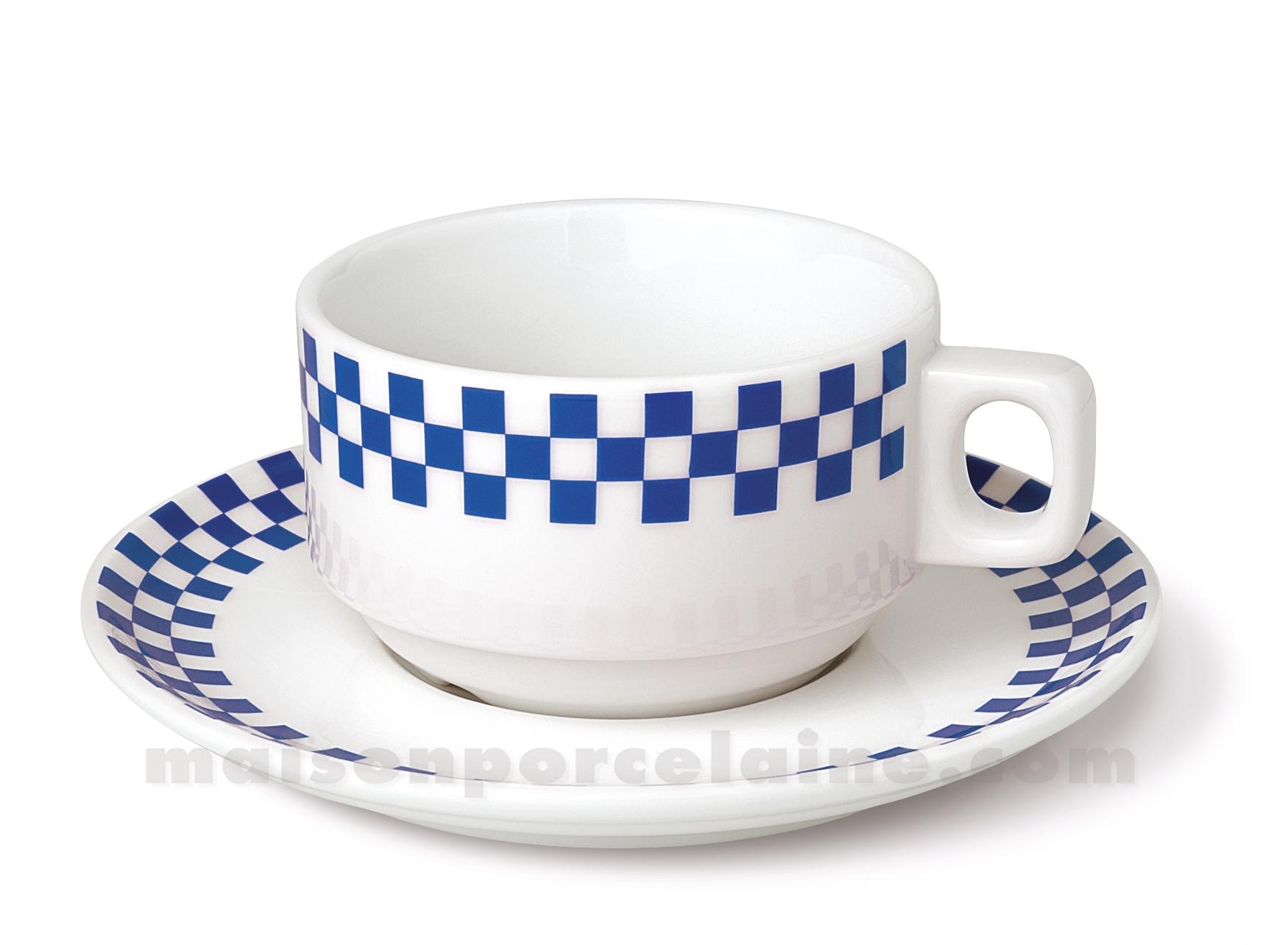 Tasse dejeuner empilable soucoupe bistro 30cl maison de for Maison de la porcelaine