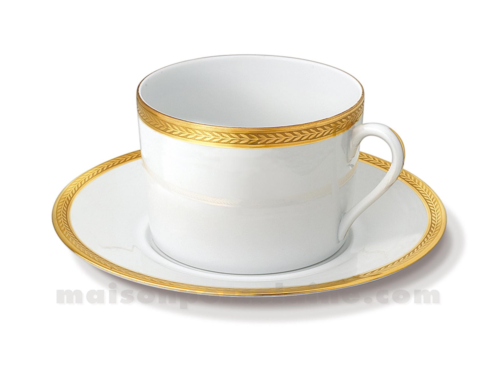 Tasse dejeuner soucoupe limoges empire 10x7x17 5 3 - Prix d un service de table en porcelaine de limoges ...