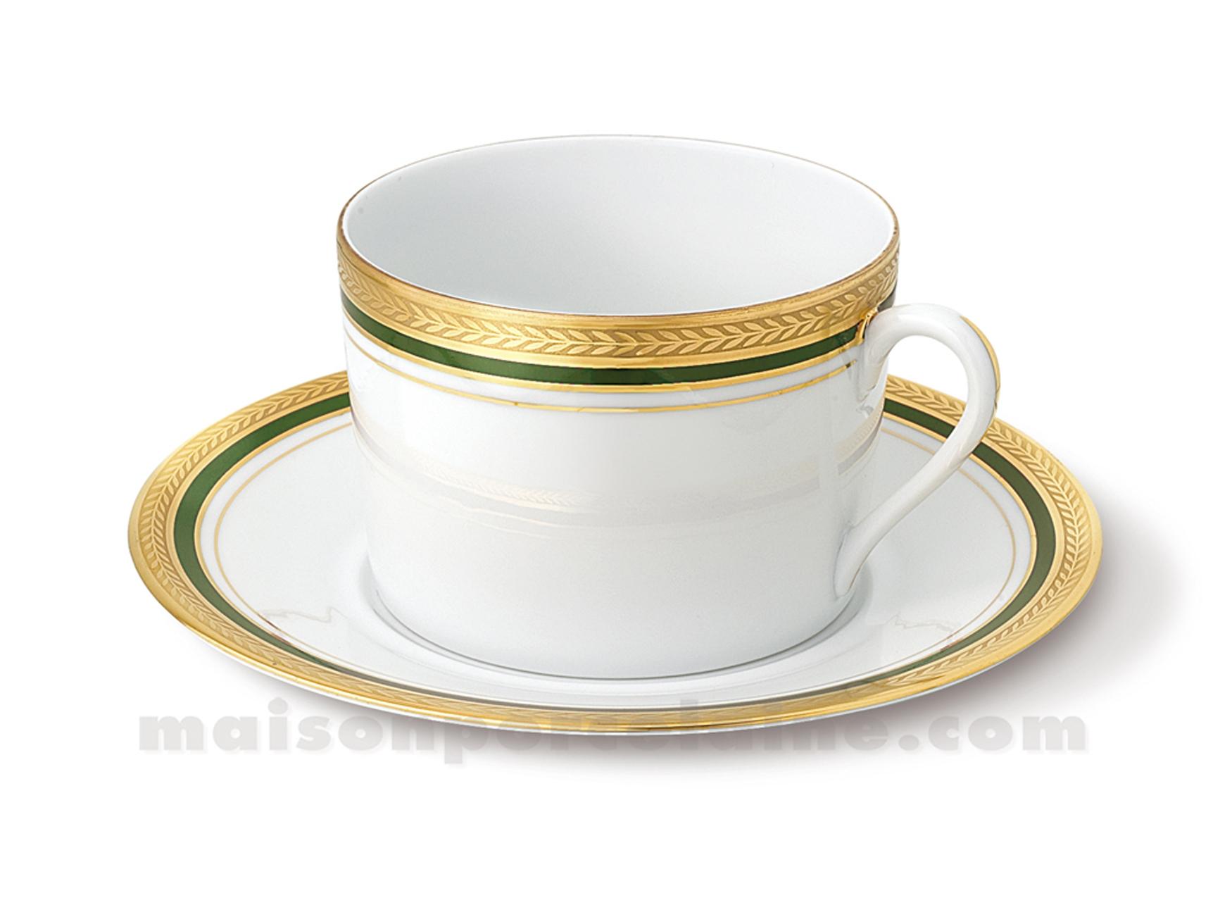 tasse dejeuner soucoupe limoges empire 10x7x17 5 3 maison de la porcelaine. Black Bedroom Furniture Sets. Home Design Ideas