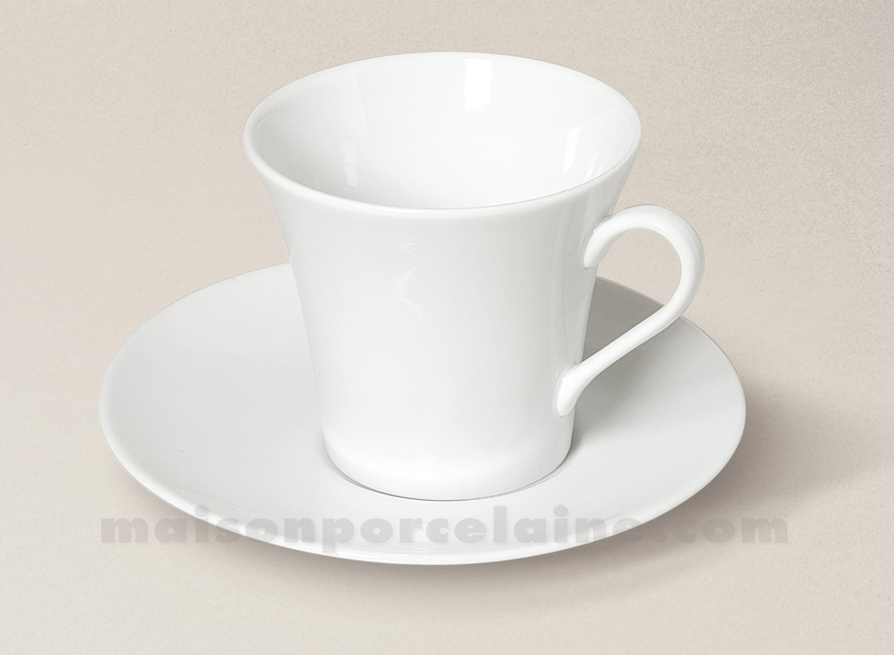 tasse dej soucoupe porcelaine blanche kosmos maison de la porcelaine. Black Bedroom Furniture Sets. Home Design Ideas