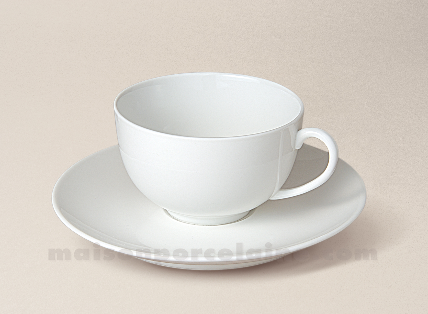 Tasse the boule soucoupe porcelaine blanche flandre 18cl - La maison de porcelaine ...