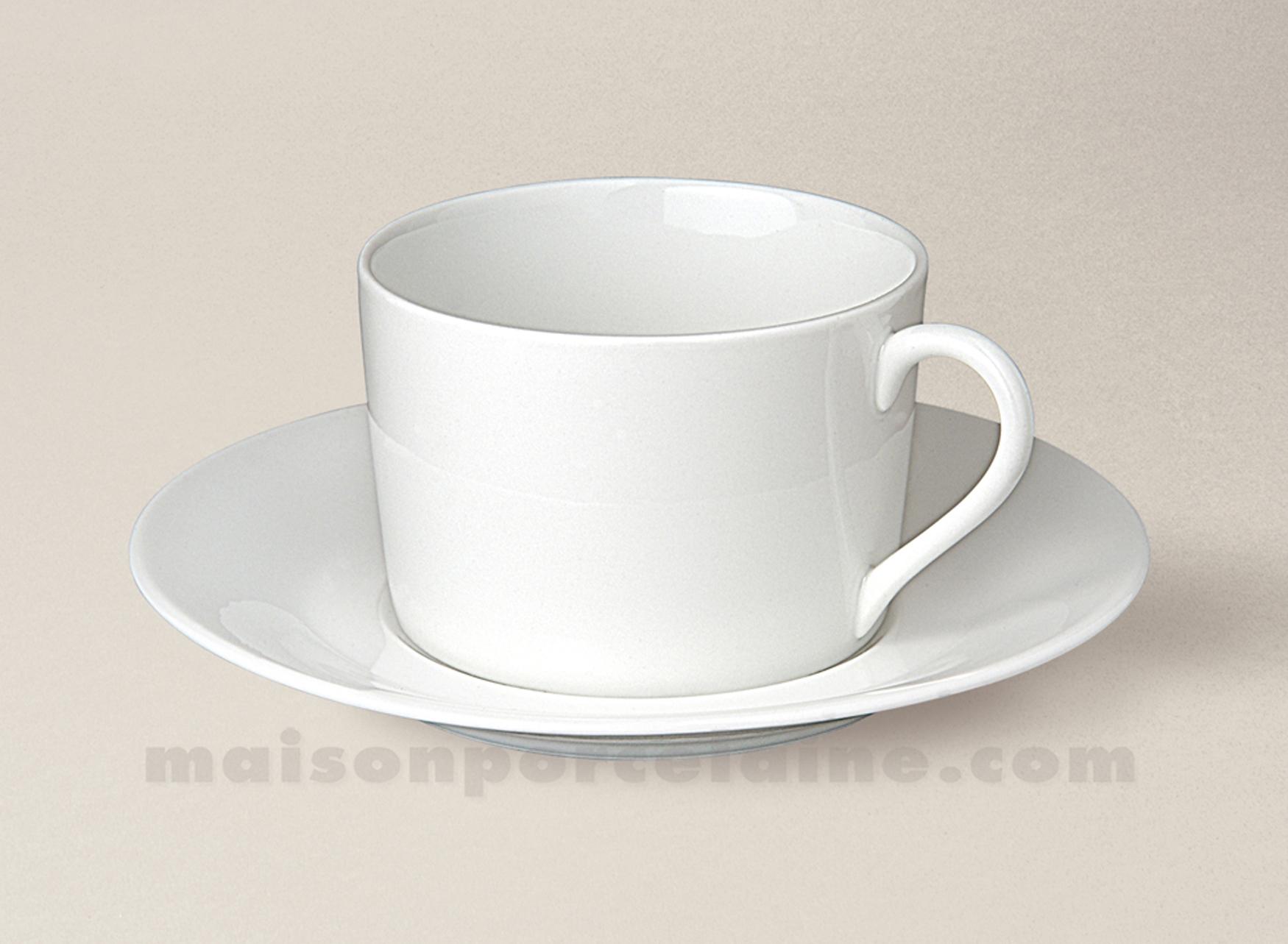 tasse the empire soucoupe porcelaine blanche sologne 20cl maison de la porcelaine. Black Bedroom Furniture Sets. Home Design Ideas