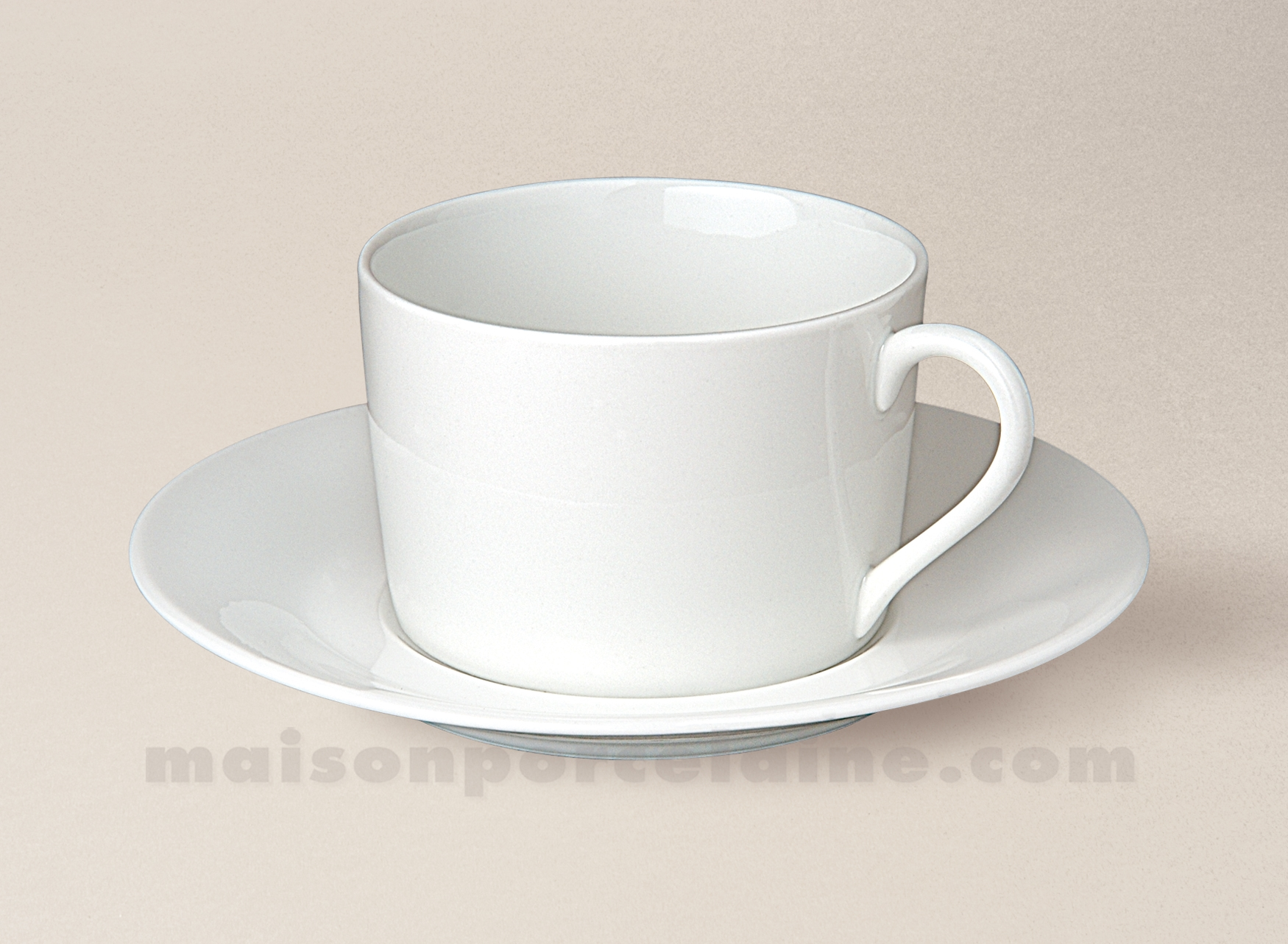 Tasse the empire soucoupe porcelaine blanche sologne 20cl for Maison de la porcelaine