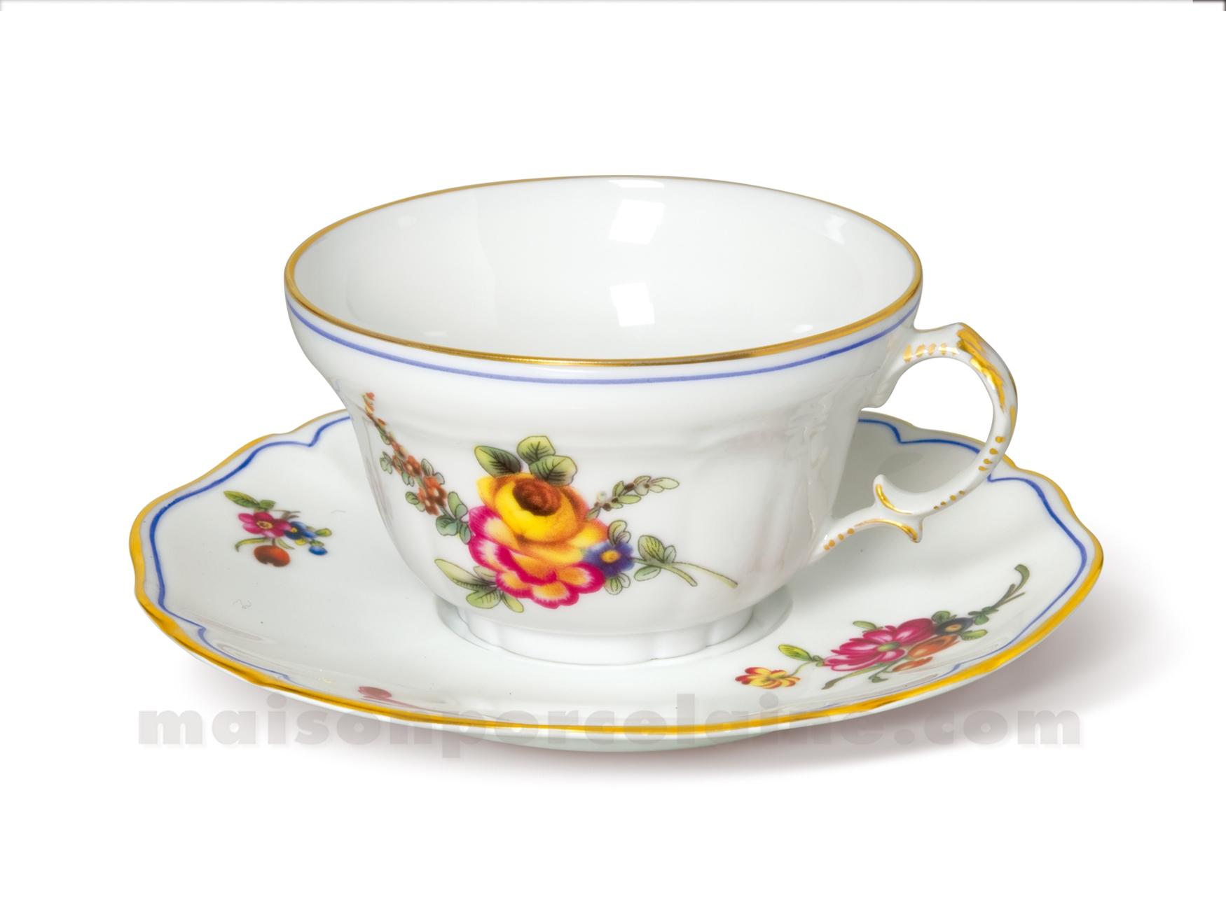 Tasse the soucoupe limoges choiseul 16cl maison de la - La maison de porcelaine ...