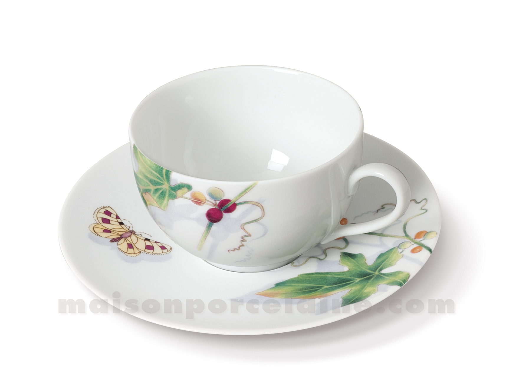 Tasse the soucoupe limoges envie 24cl maison de la for Maison de la porcelaine