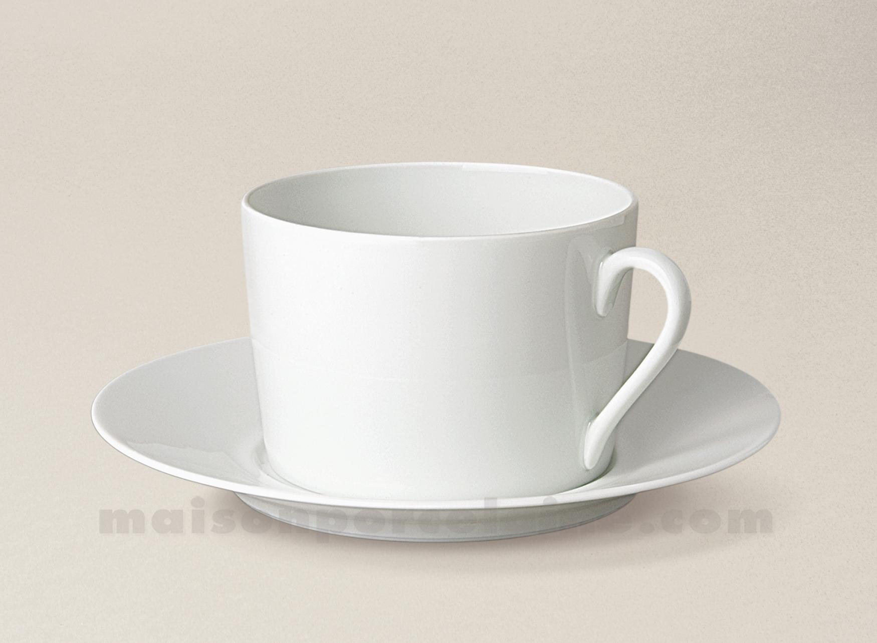 Tasse the soucoupe limoges porcelaine blanche empire 20cl - La maison de porcelaine ...