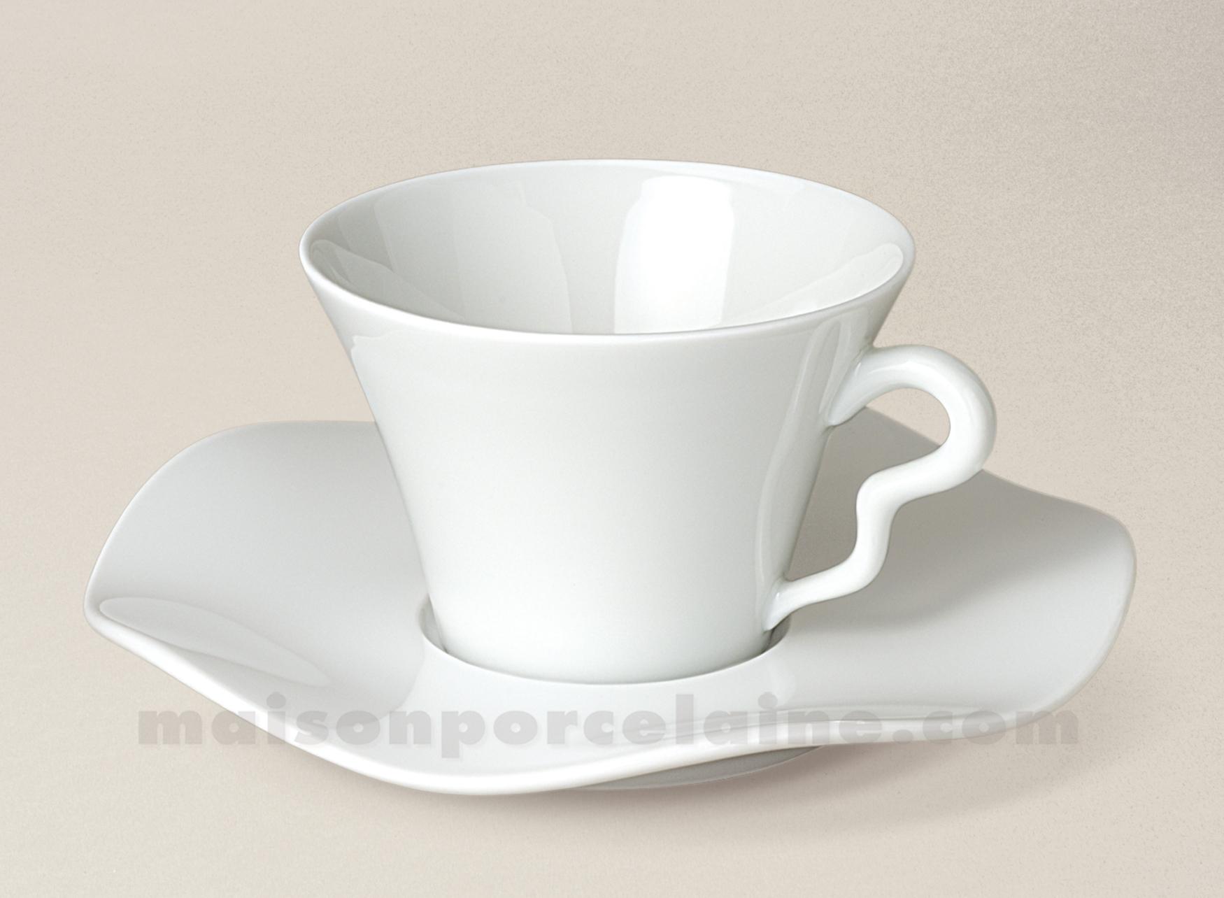 tasse the soucoupe limoges porcelaine blanche gala 17cl maison de la porcelaine. Black Bedroom Furniture Sets. Home Design Ideas