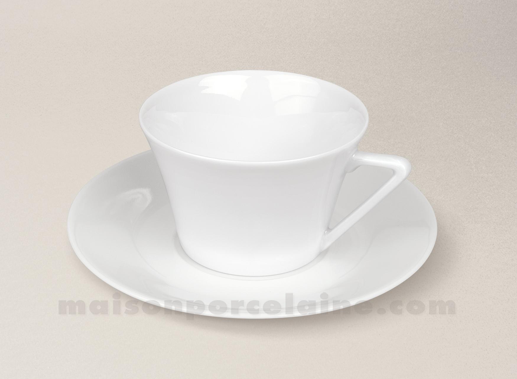 tasse the soucoupe limoges porcelaine blanche haussmann 20cl maison de la porcelaine. Black Bedroom Furniture Sets. Home Design Ideas
