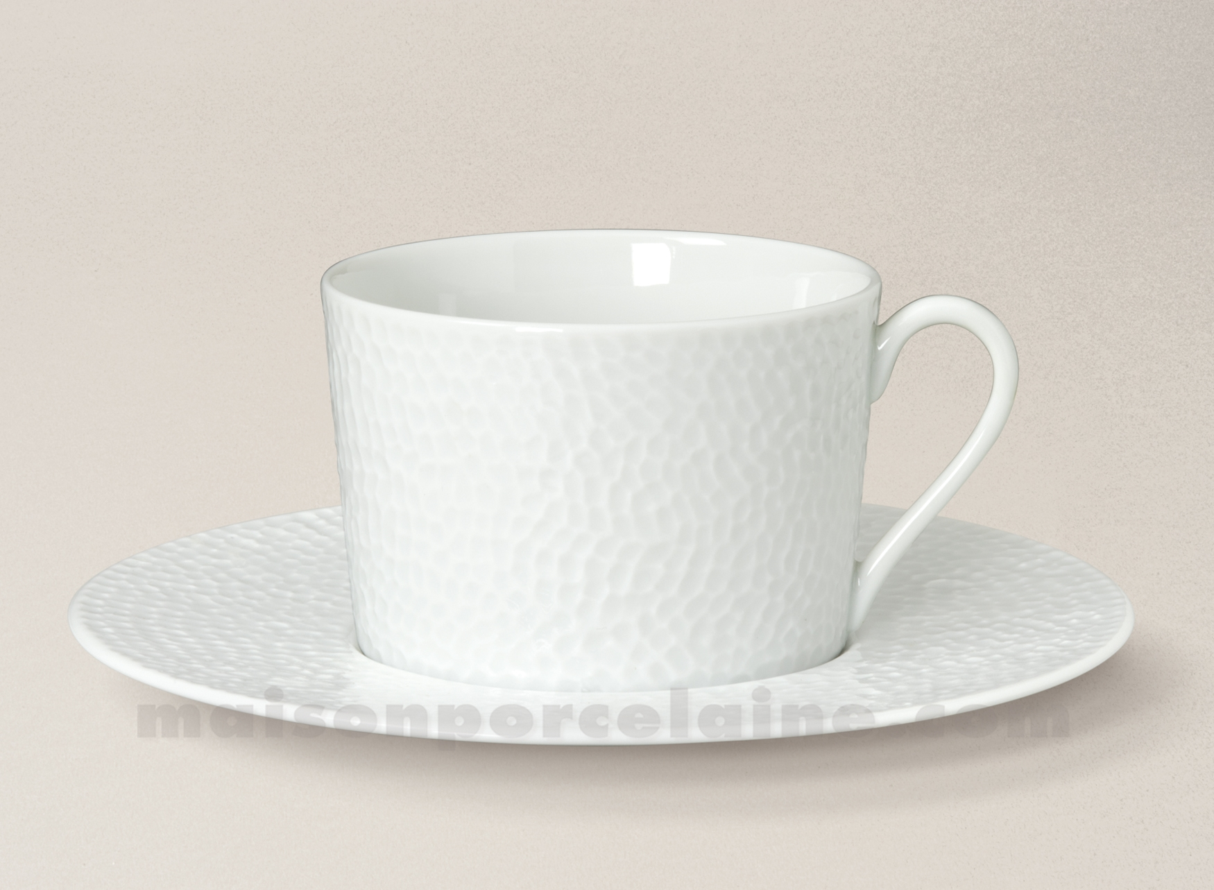 tasse the soucoupe porcelaine blanche emulsion 8 5x8 20cl maison de la porcelaine. Black Bedroom Furniture Sets. Home Design Ideas