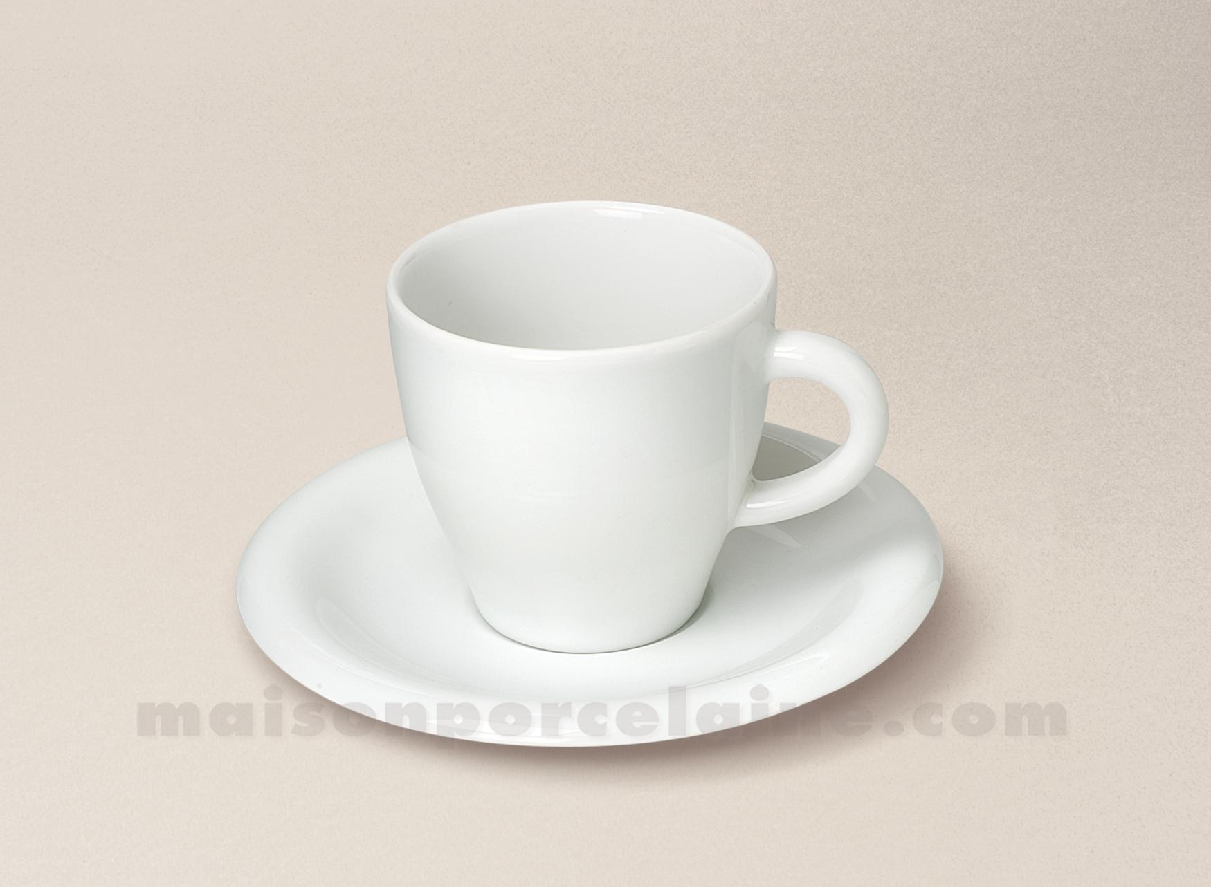 Tasse the soucoupe porcelaine blanche ronda 15cl maison for Maison de la porcelaine