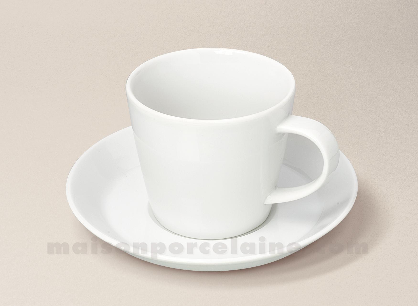 tasse the soucoupe porcelaine blanche trendy 22cl maison de la porcelaine. Black Bedroom Furniture Sets. Home Design Ideas