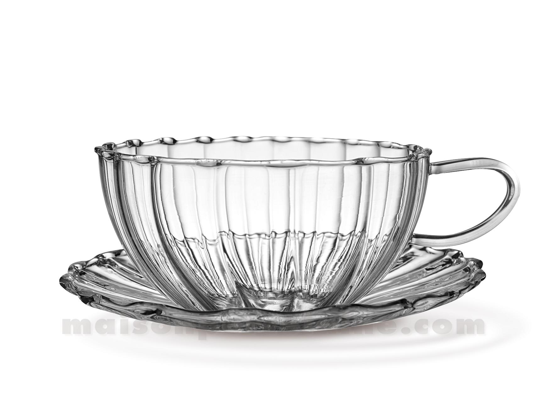 tasse scpe the verre godrons 22 5cl set 2 maison de la porcelaine. Black Bedroom Furniture Sets. Home Design Ideas