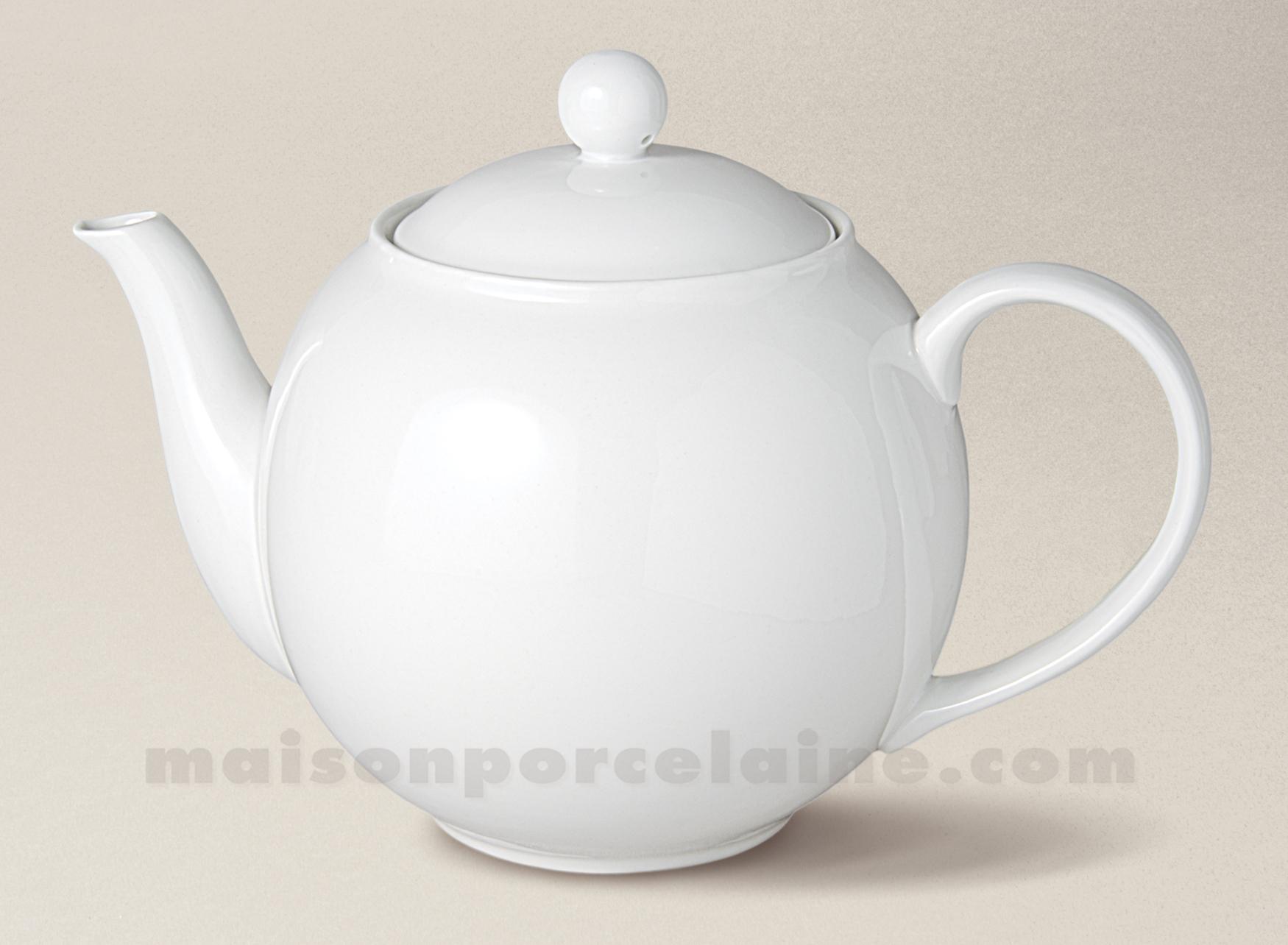 theiere boule flandre porcelaine blanche gm 1 4l maison de la porcelaine. Black Bedroom Furniture Sets. Home Design Ideas