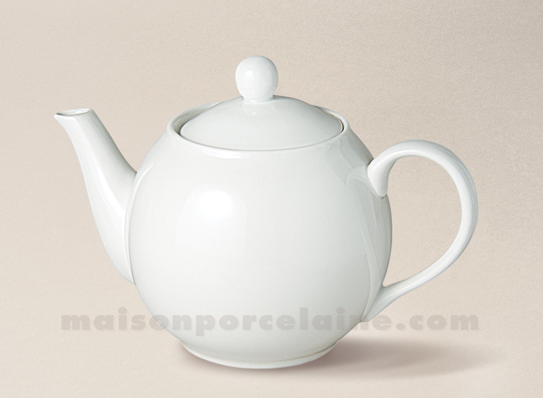 theiere boule flandre porcelaine blanche pm 60cl maison de la porcelaine. Black Bedroom Furniture Sets. Home Design Ideas