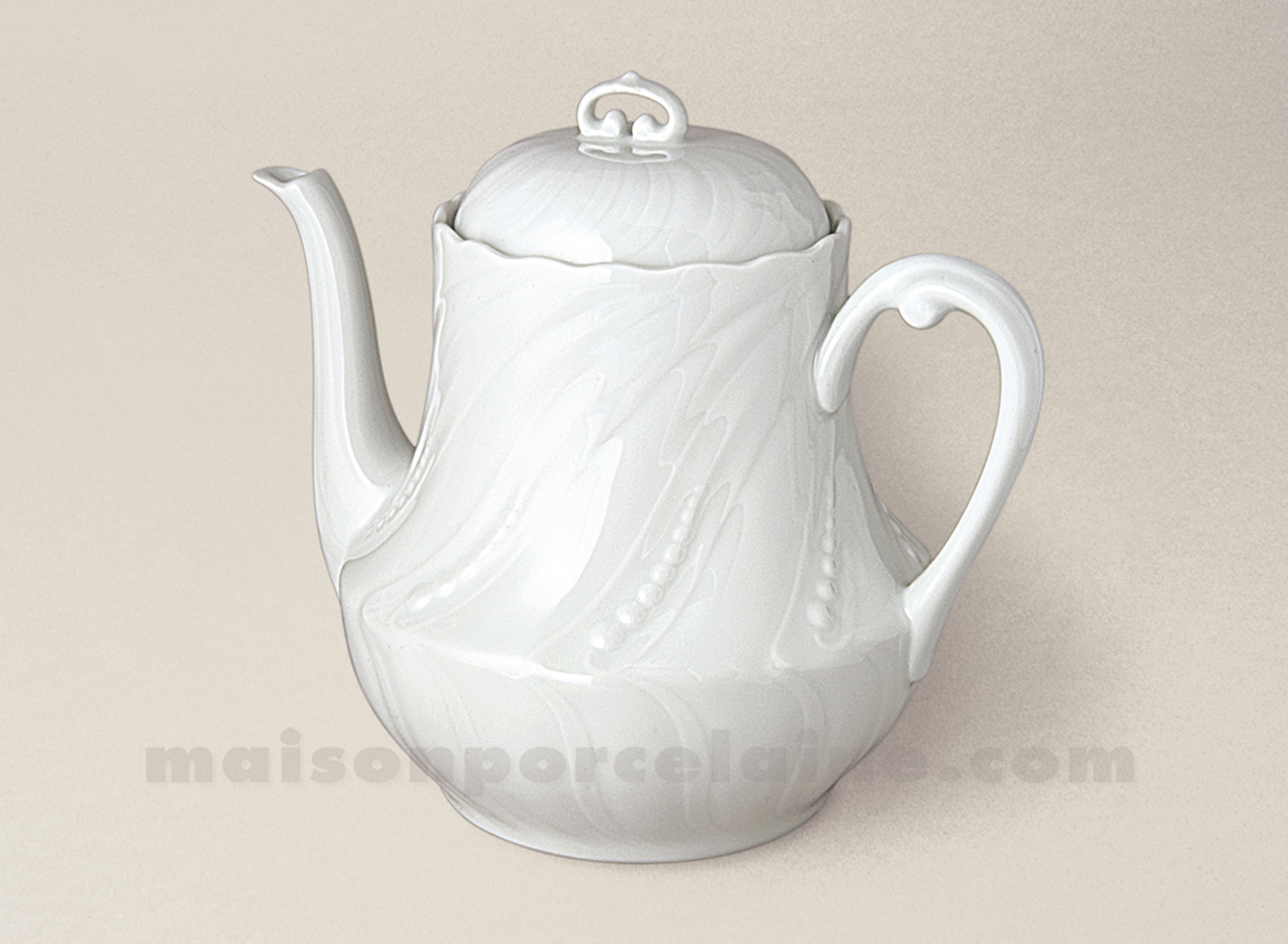 Theiere ocean limoges porcelaine blanche gm 1 4l maison for Maison de la porcelaine