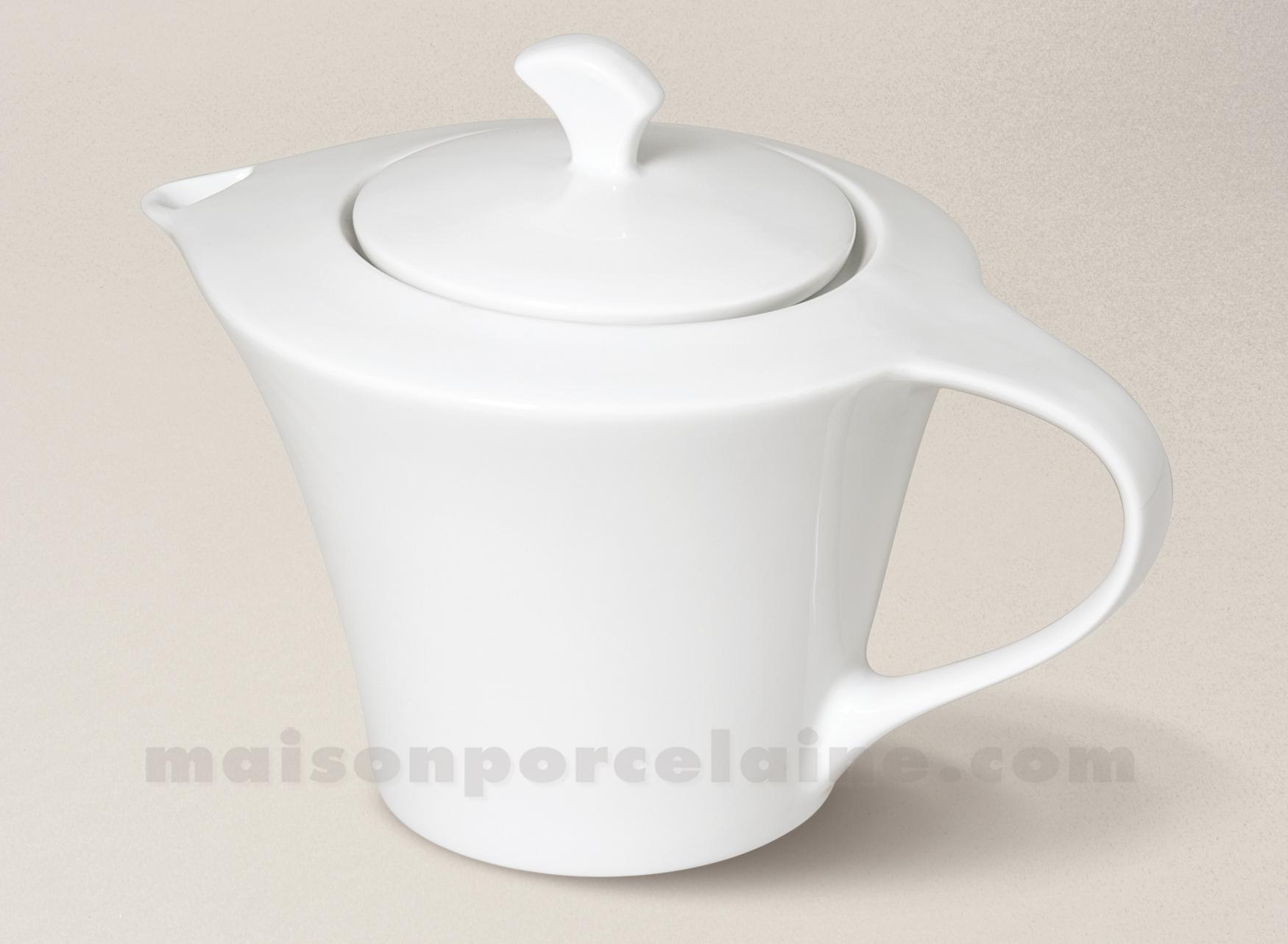 theiere porcelaine blanche kosmos gm 23x15 5x17 1 2l maison de la porcelaine. Black Bedroom Furniture Sets. Home Design Ideas
