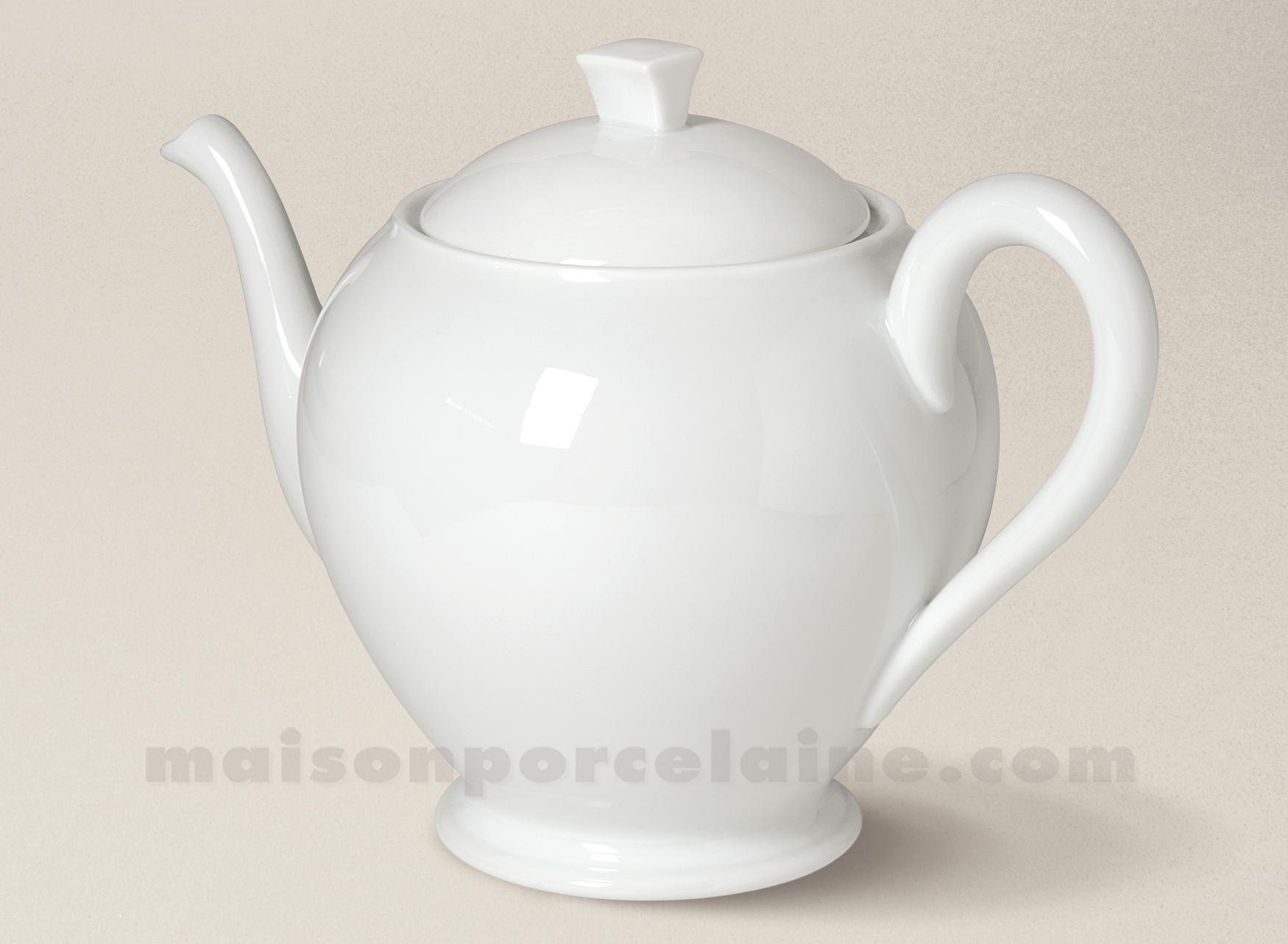 theiere porcelaine blanche limoges boule orient 25 5x17 5. Black Bedroom Furniture Sets. Home Design Ideas