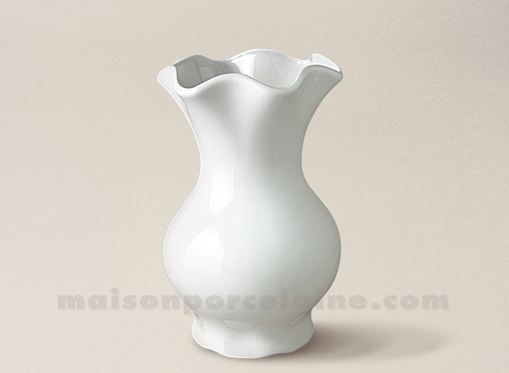 Maison De La Porcelaine Blanche #10: VASE LIMOGES PORCELAINE BLANCHE ROMAIN FESTON MM 24X15
