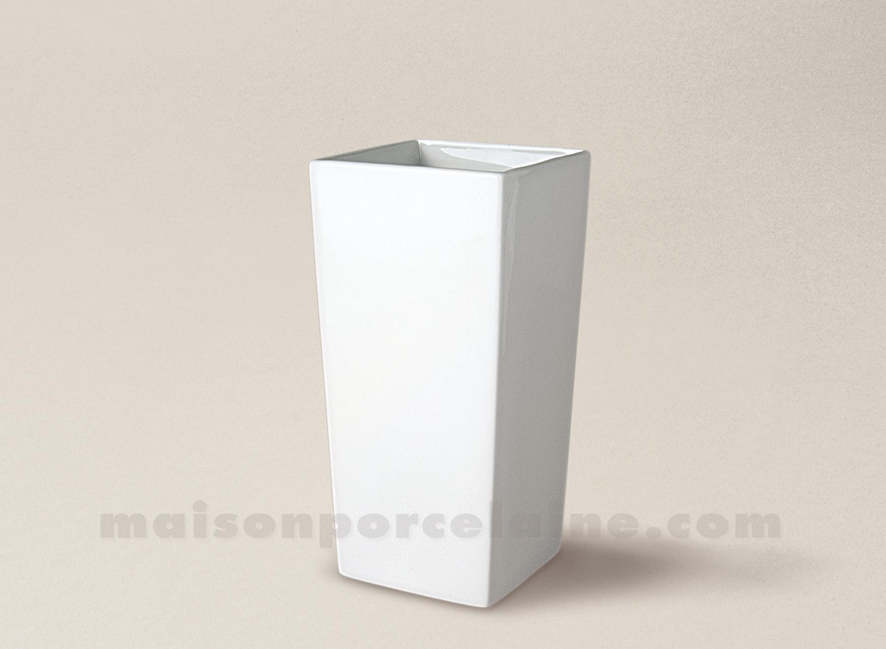 Vase porcelaine blanche conique carre pm 15x7 maison de la porcelaine - La porcelaine blanche ...