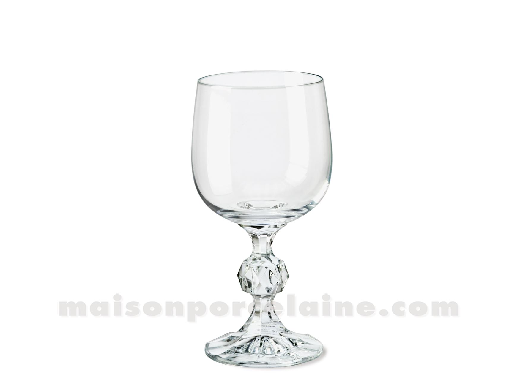 Verre a eau claudia cristal de boheme 14x7 19cl maison de la porcelaine - Prix d un verre en cristal ...