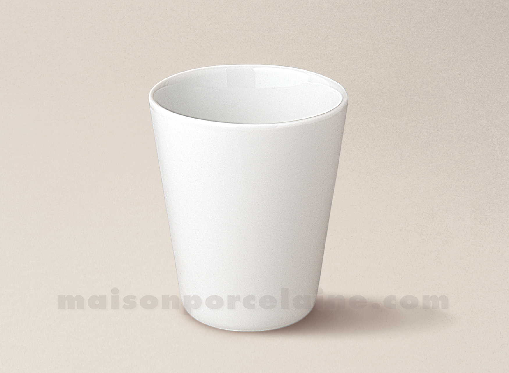Verre the conique porcelaine blanche 8x7 16cl maison de for Maison de la porcelaine