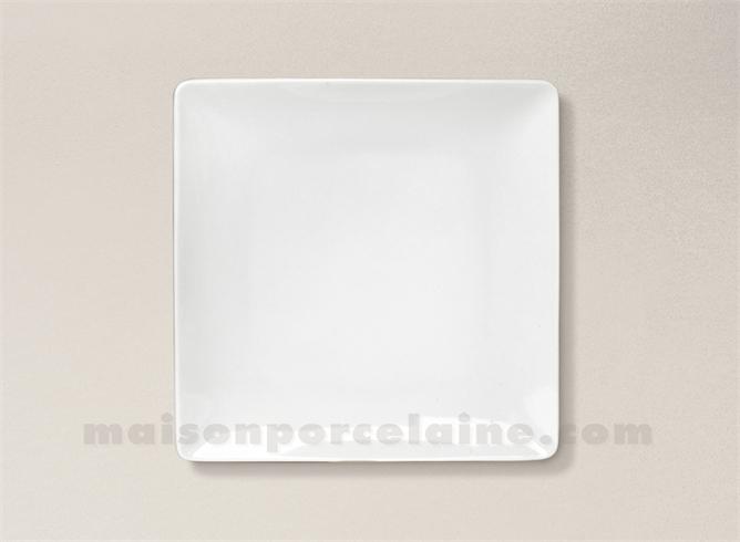 assiette carree dessert porcelaine blanche colorado 20x20cm maison de la porcelaine. Black Bedroom Furniture Sets. Home Design Ideas