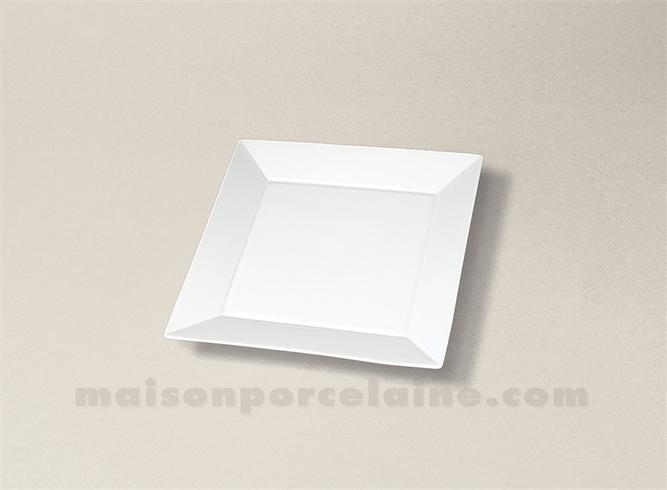 assiette carree plate porcelaine blanche kyoto 10x10 maison de la porcelaine. Black Bedroom Furniture Sets. Home Design Ideas