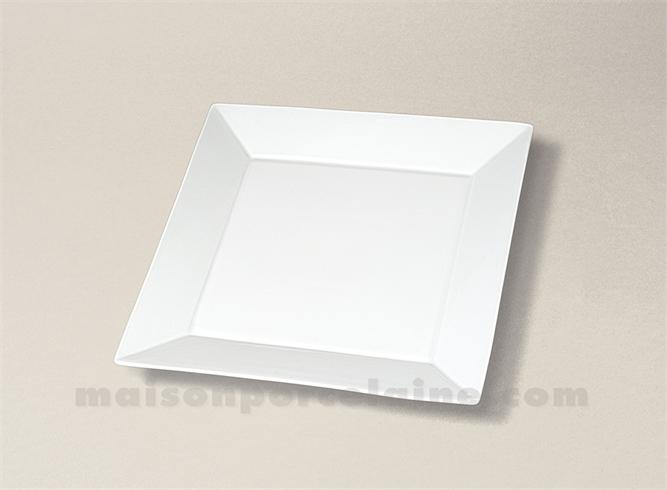 assiette carree plate porcelaine blanche kyoto 19x19 maison de la porcelaine. Black Bedroom Furniture Sets. Home Design Ideas