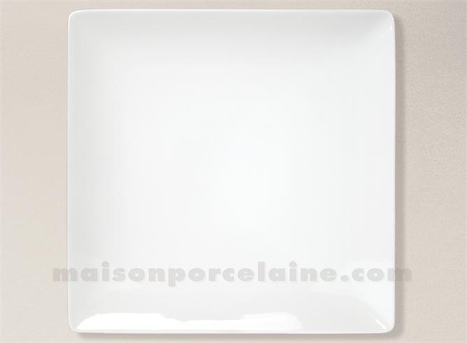 assiette carree presentation porcelaine blanche colorado 30x30cm maison de la porcelaine. Black Bedroom Furniture Sets. Home Design Ideas