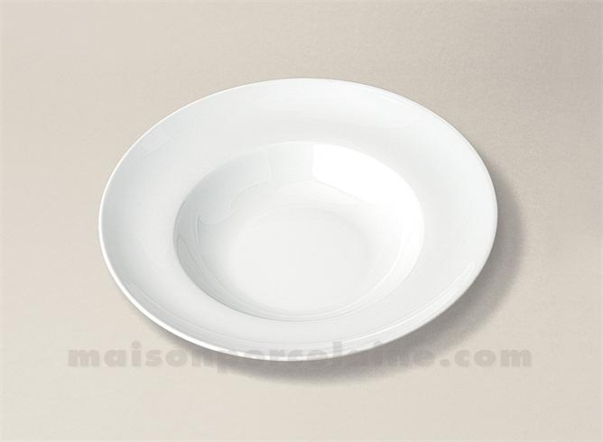 assiette pasta porcelaine blanche ronde florence d21 maison de la porcelaine. Black Bedroom Furniture Sets. Home Design Ideas